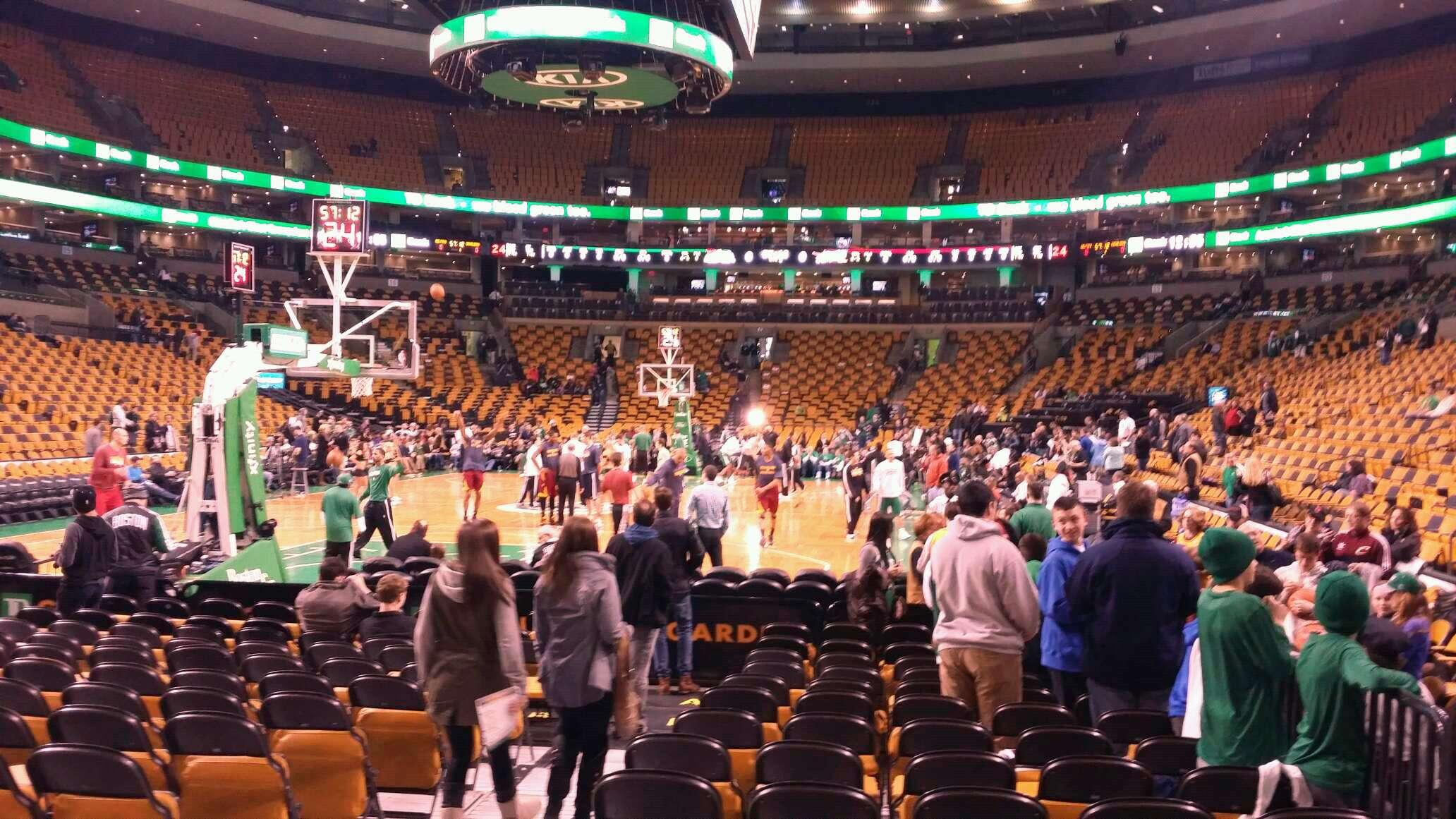 td garden section loge 5 row 2 seat 9 boston celtics vs cleveland cavaliers