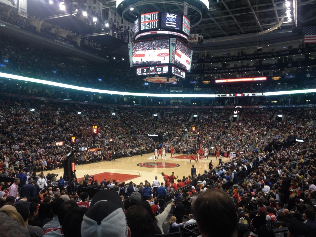 Toronto Raptors Seat View for Air Canada Centre Section 101, Row 15, Seat 3