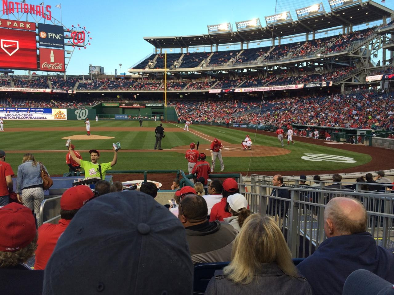 Nationals Park Section 118 Row M Seat 7