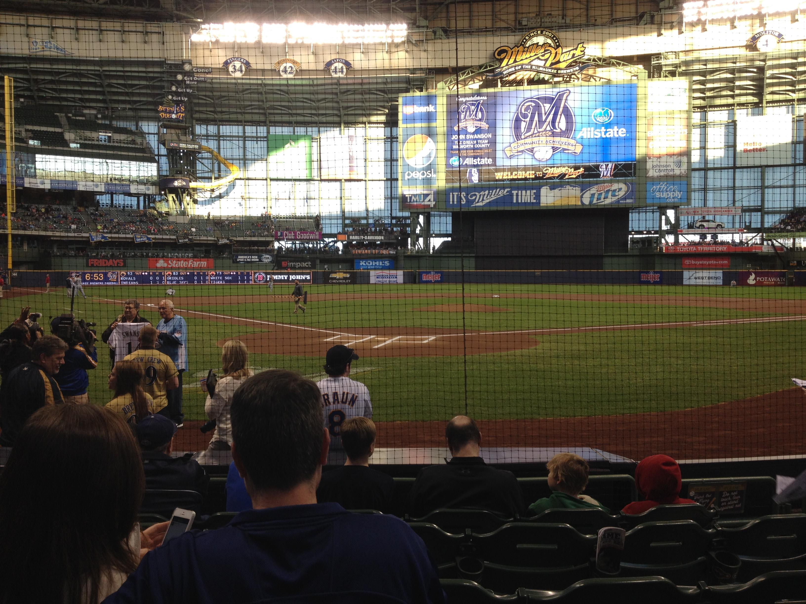 View from Section 117 at Miller Park
