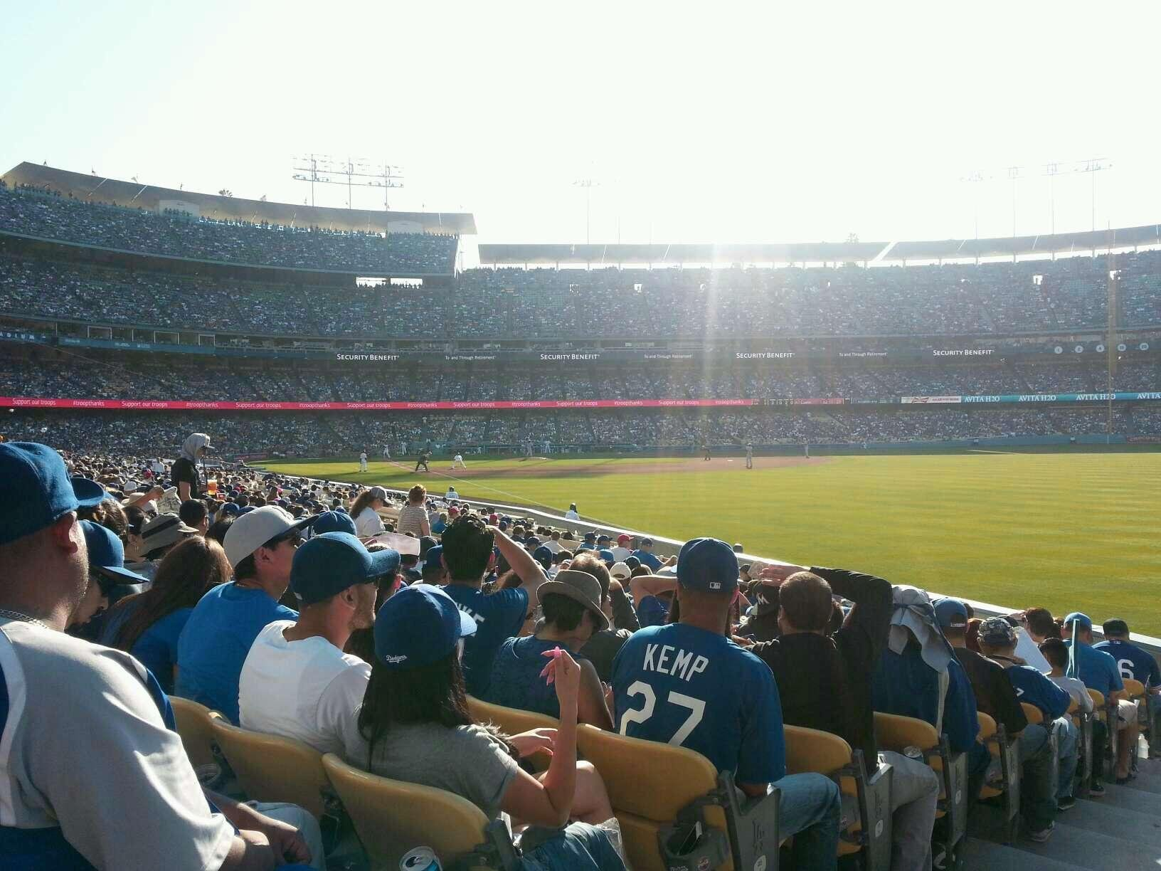 Dodger Stadium Section 48FD Row M Seat 1