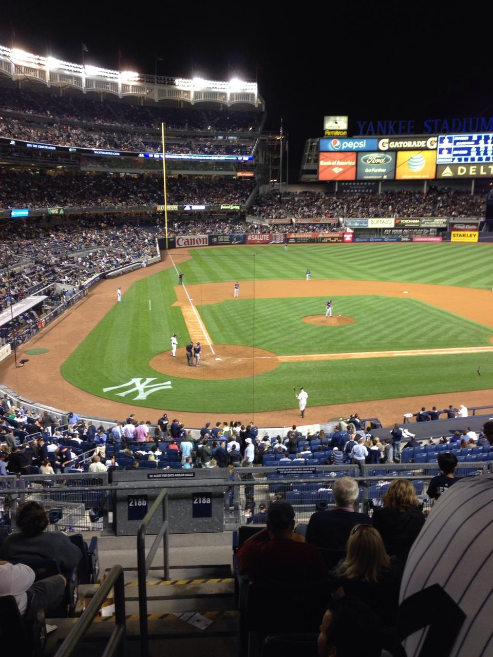 Yankee Stadium Section 218a Row 8 Seat 13