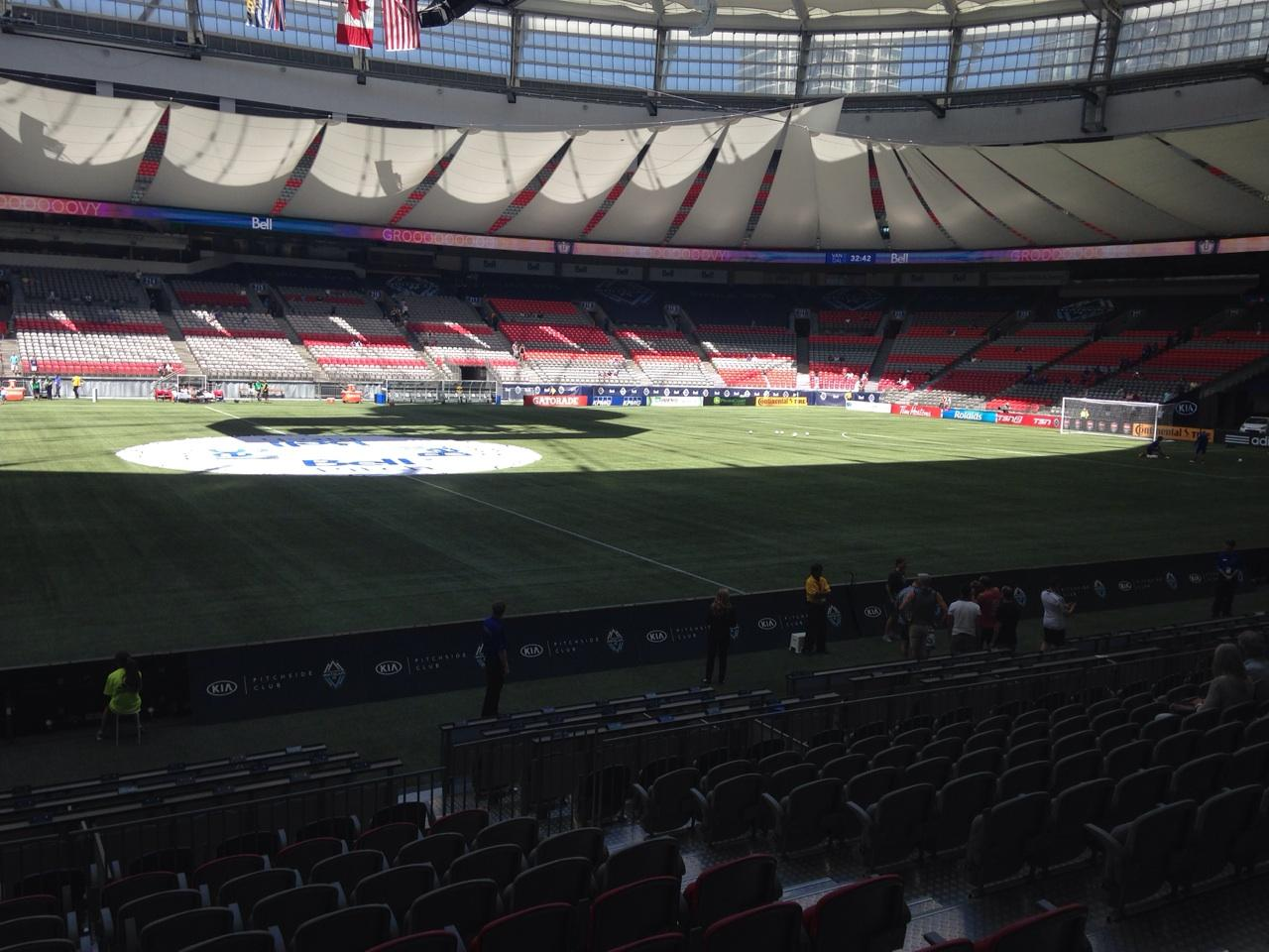 BC Place Section 342 Row L Seat 106