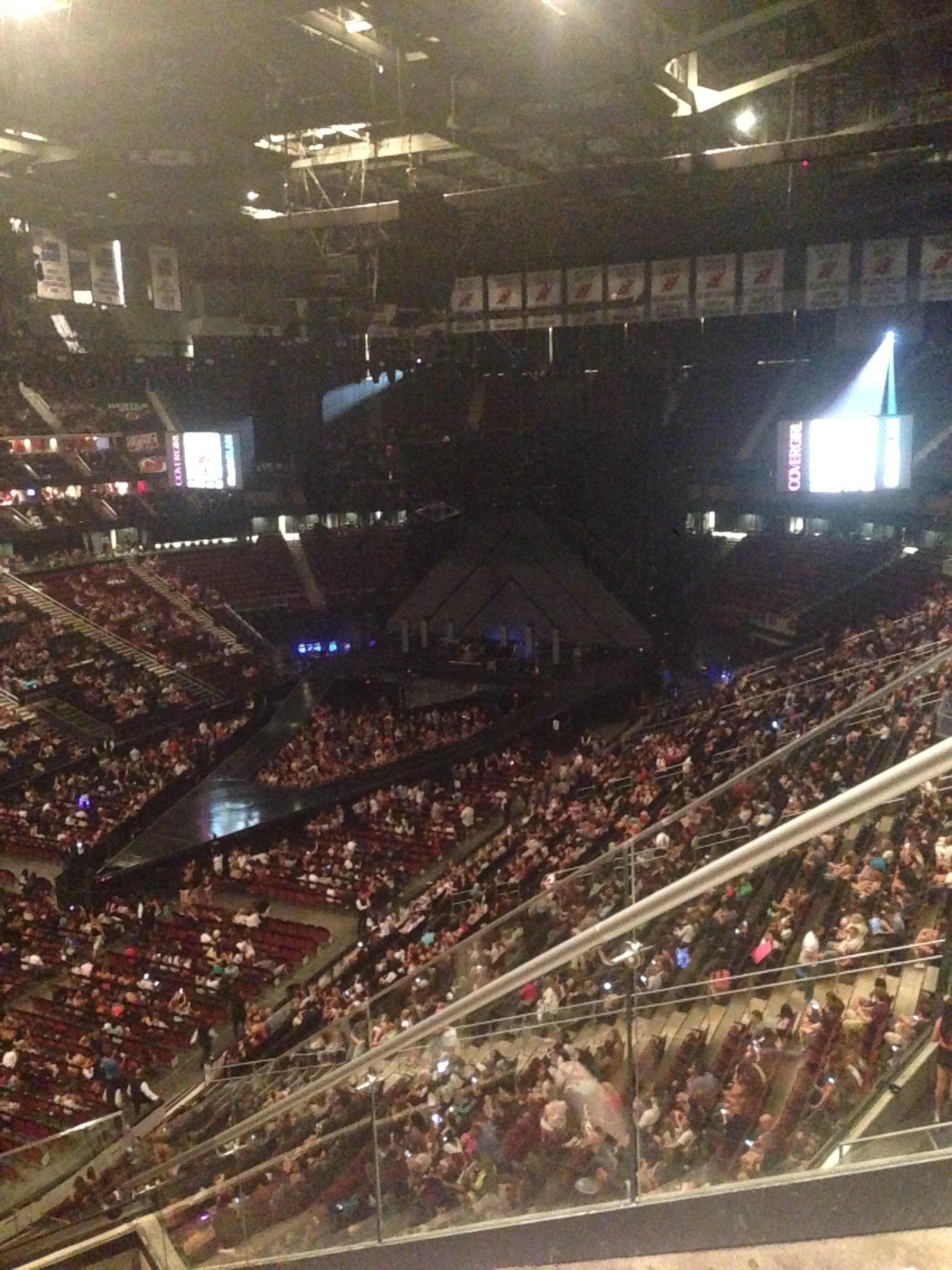 Concert Seat View for Prudential Center Section 107 Row 8 Seat 1