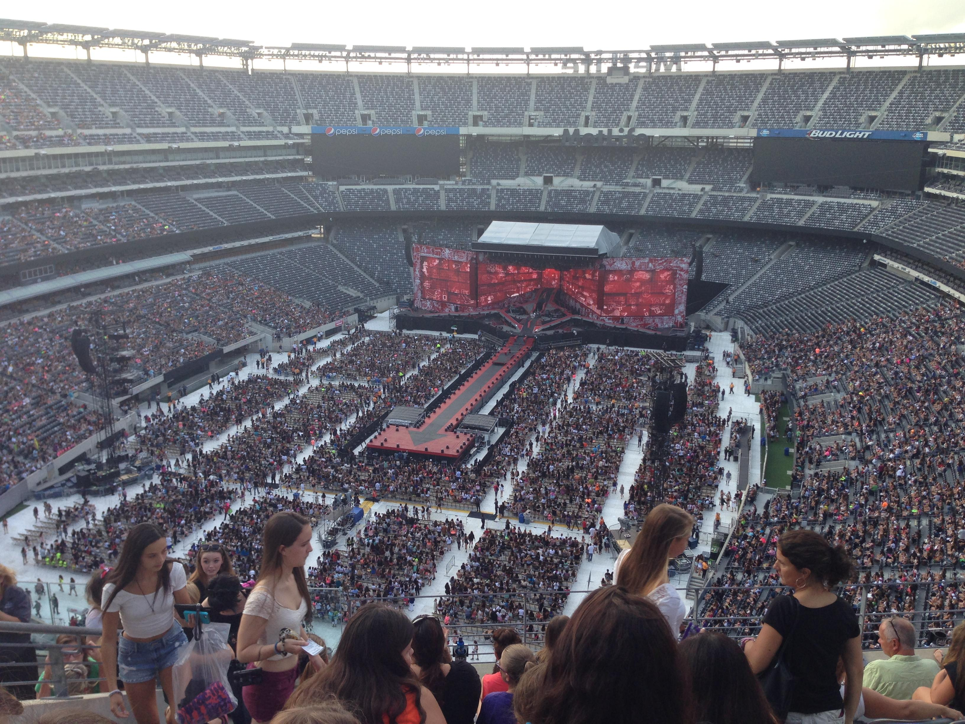 300 Level End Metlife Stadium Concert Seating