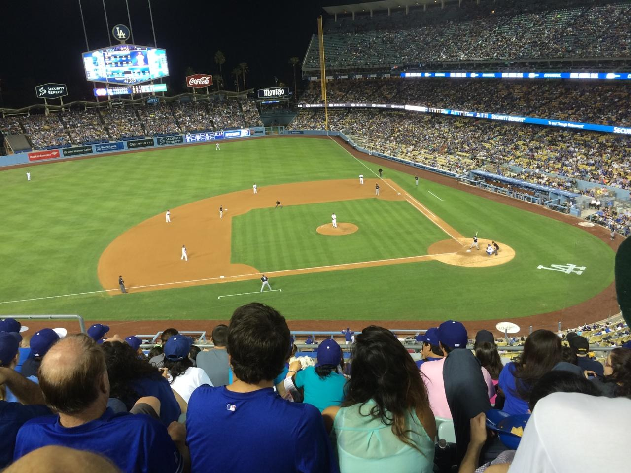 Dodger Stadium Section 15rs Row G Seat 12