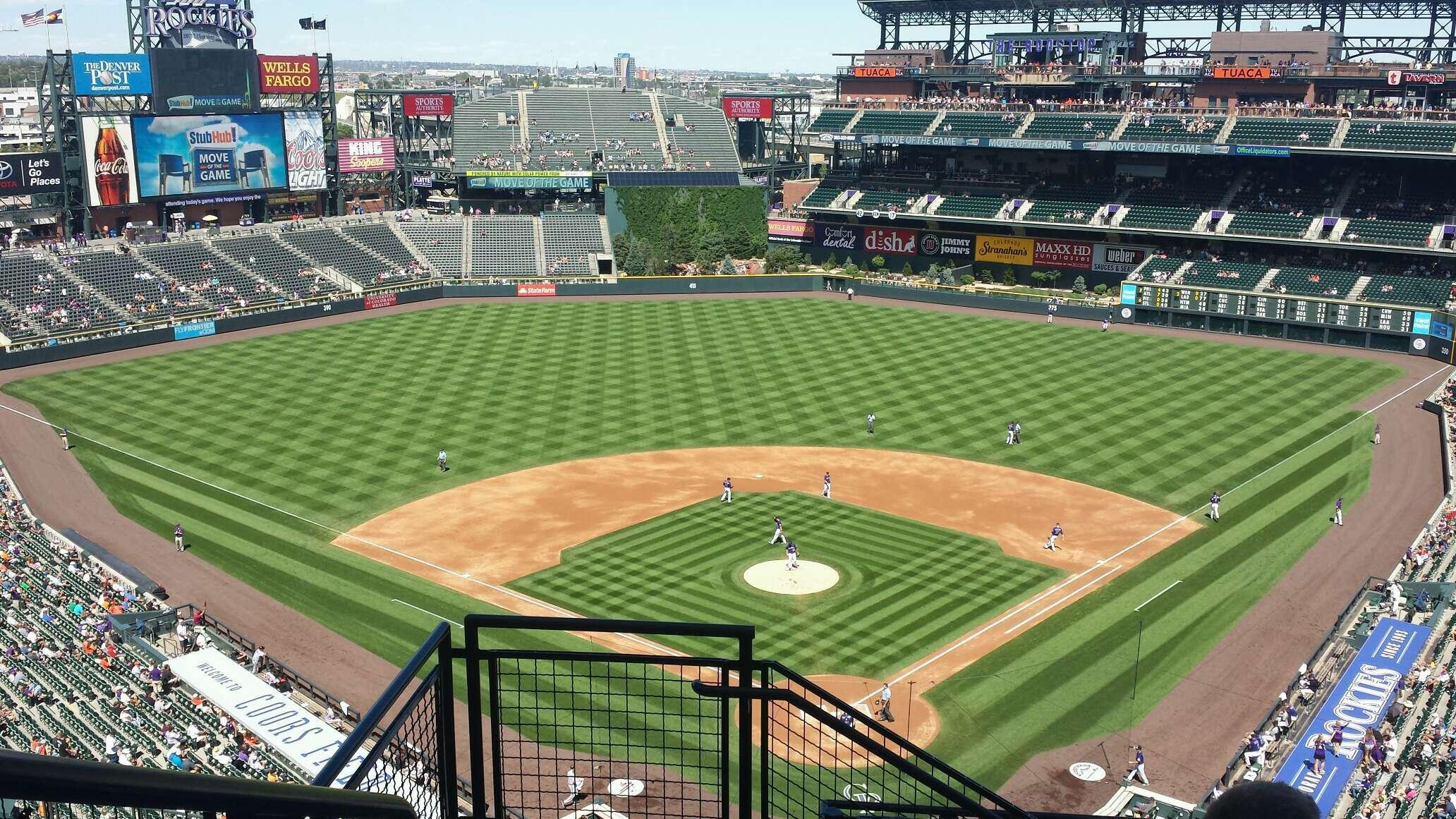 Coors Field Section U331 Row 13 Seat 18