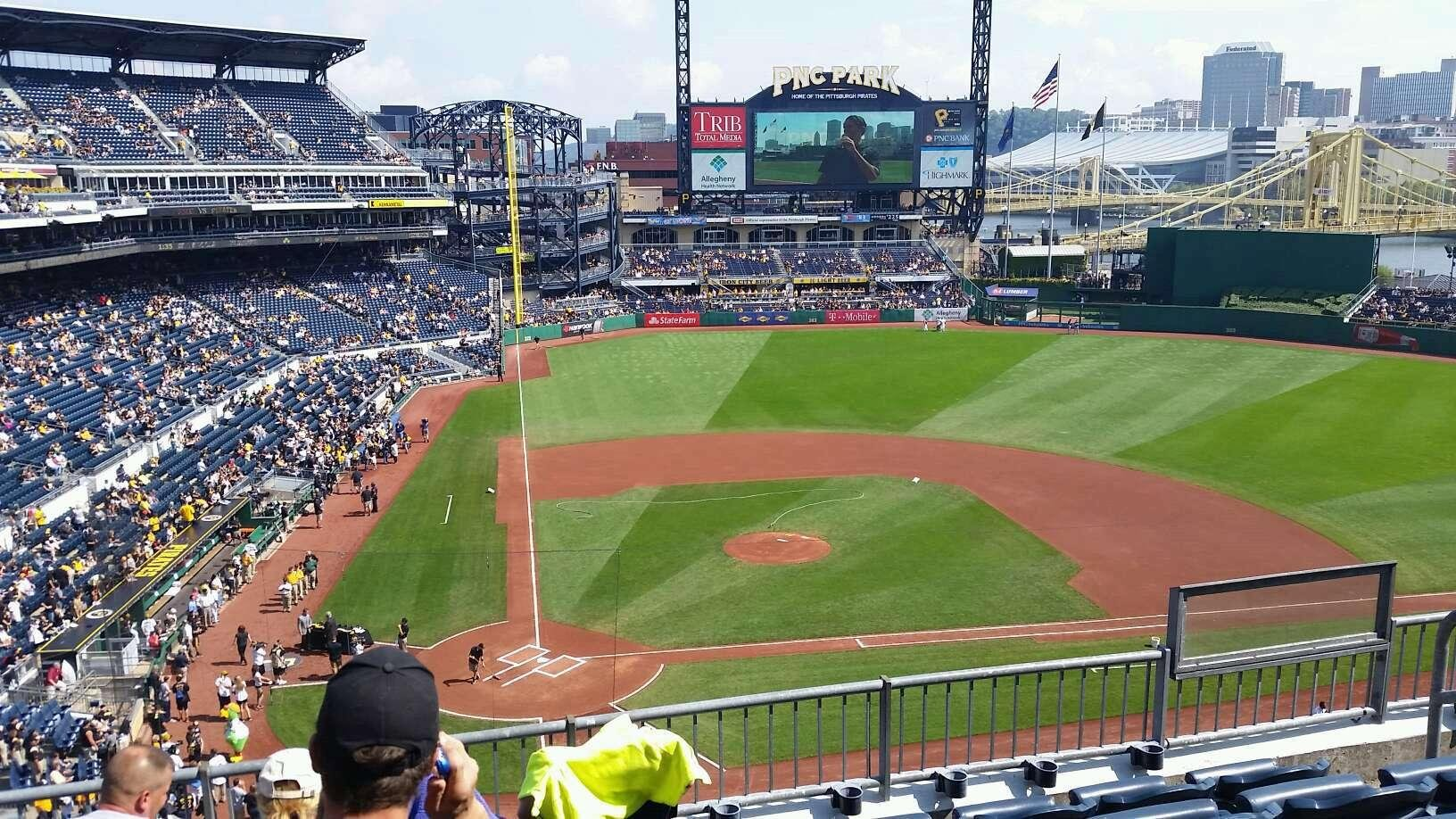 PNC Park Section 212 Row E Seat 4