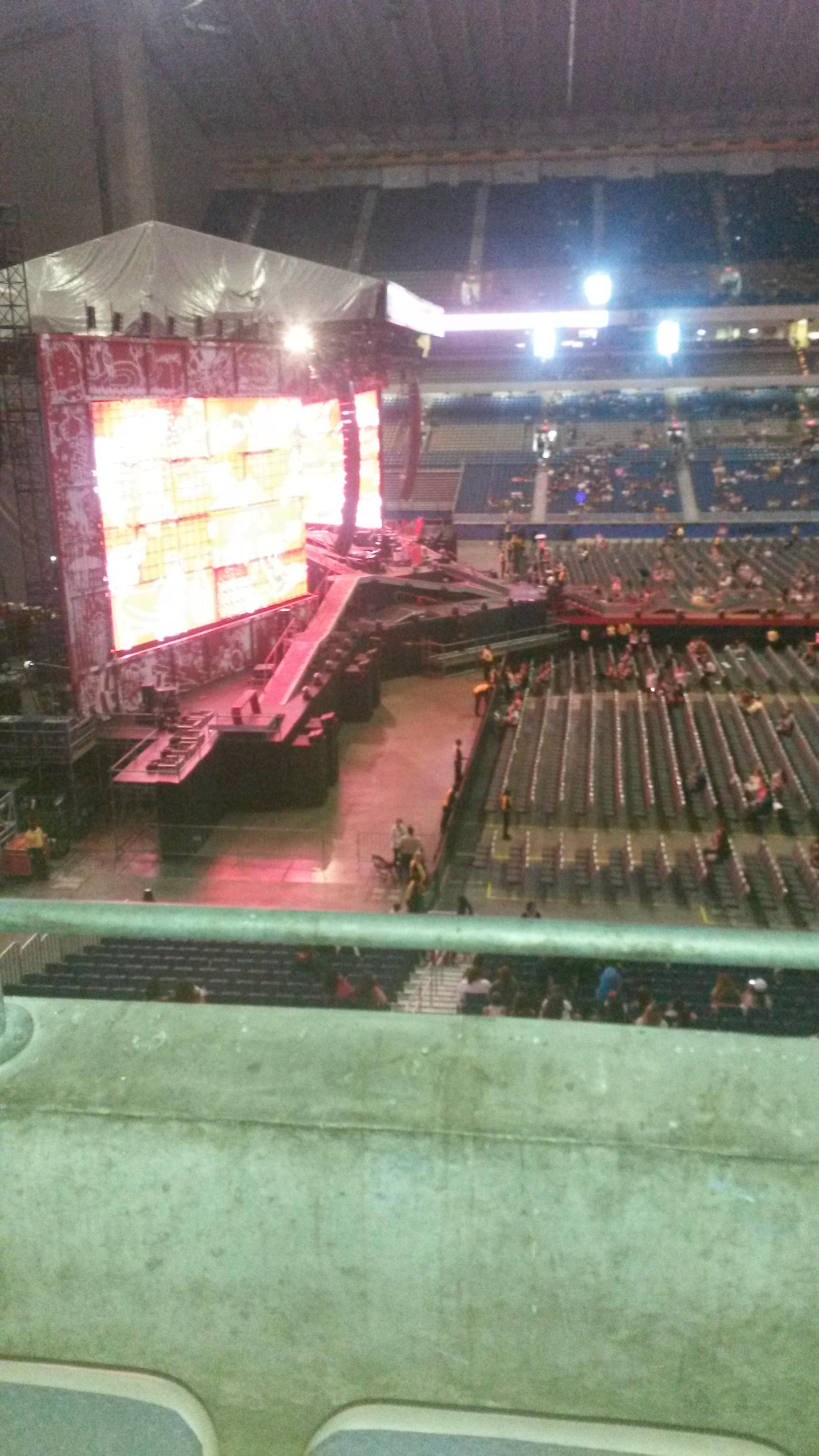 Concert Seat View for Alamodome Section 215, Row 2, Seat 20