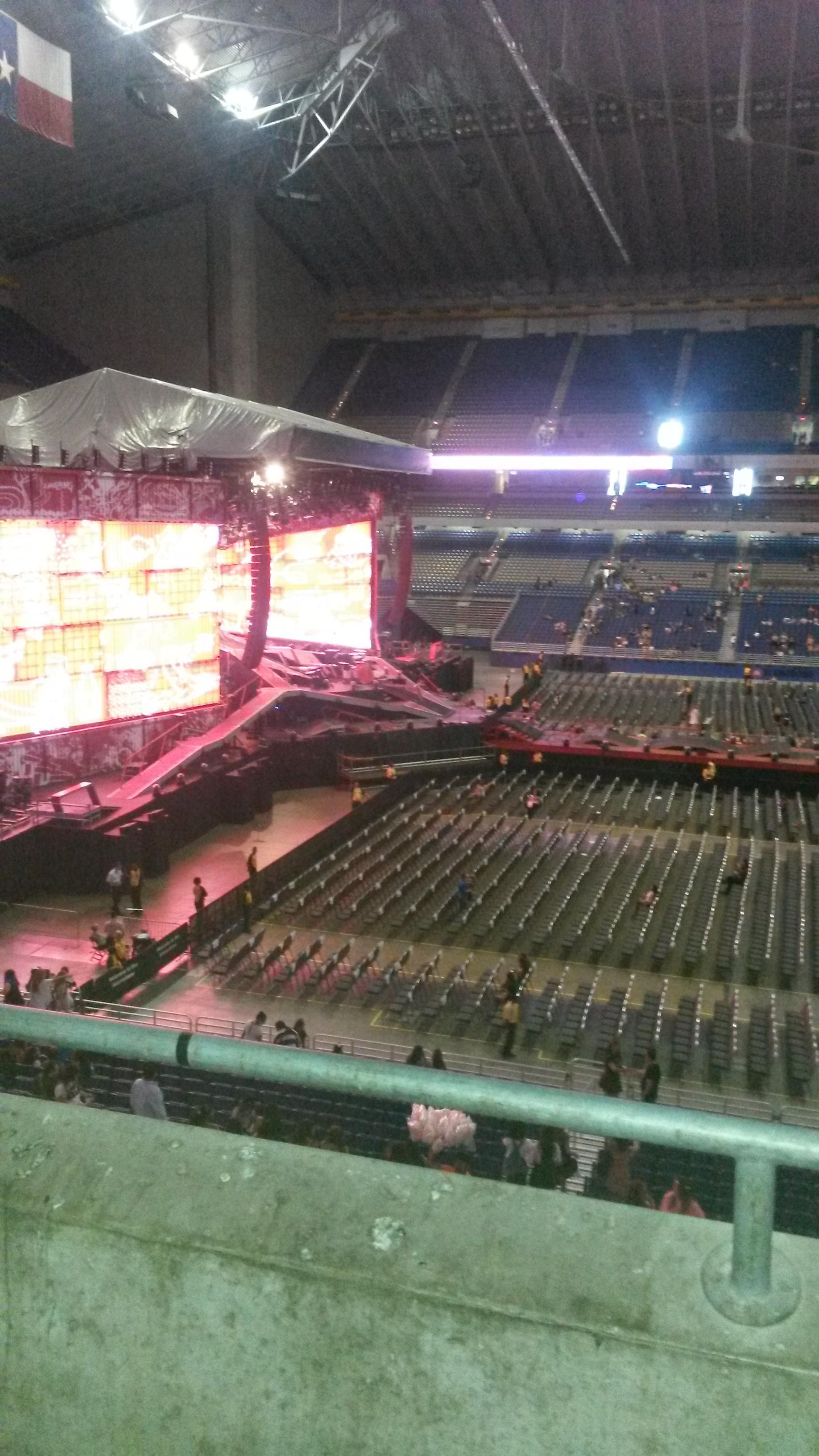 Concert Seat View for Alamodome Section 214, Row 2, Seat 20