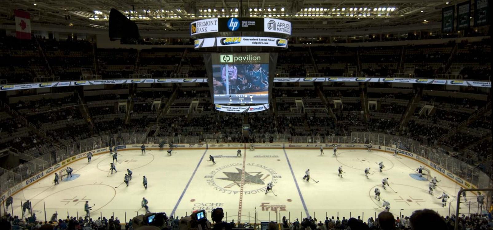 SAP Center at San Jose section 215 row 7 seat 10 - San Jose Sharks