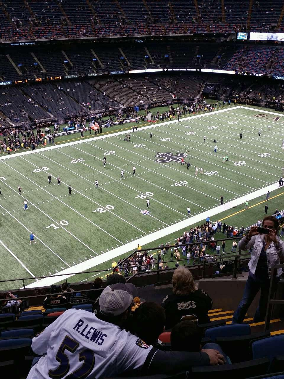 Superdome section 620 new orleans saints for Mercedes benz superdome club level seating
