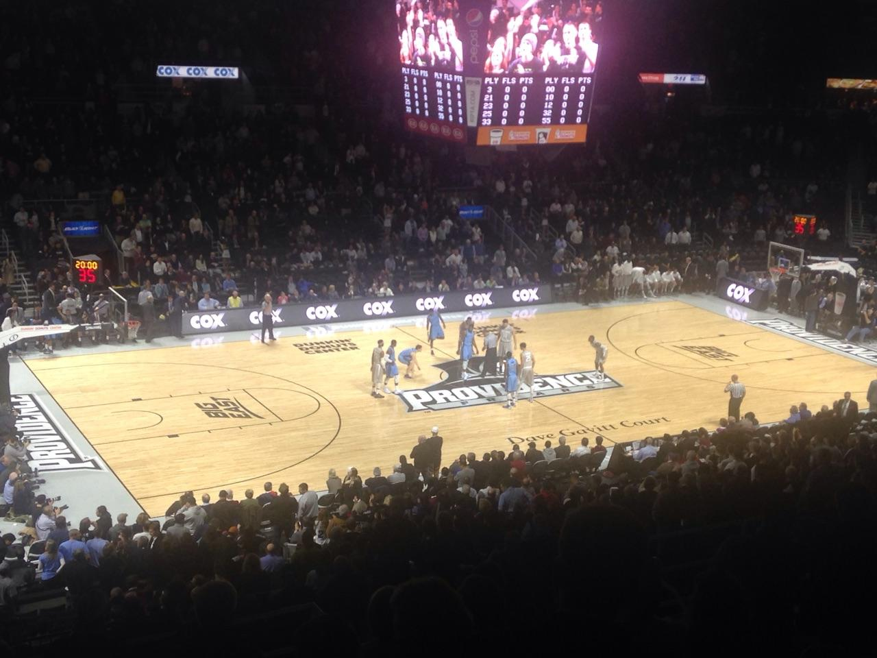Dunkin' Donuts Center Section 214 Row M Seat 1