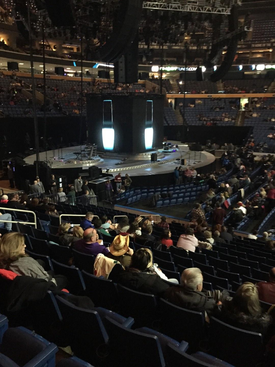 Concert Seat View for KeyBank Center Section 106, Row 16, Seat 10