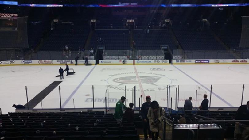 Columbus Blue Jackets Seat View for Nationwide Arena Section 115, Row U, Seat 3