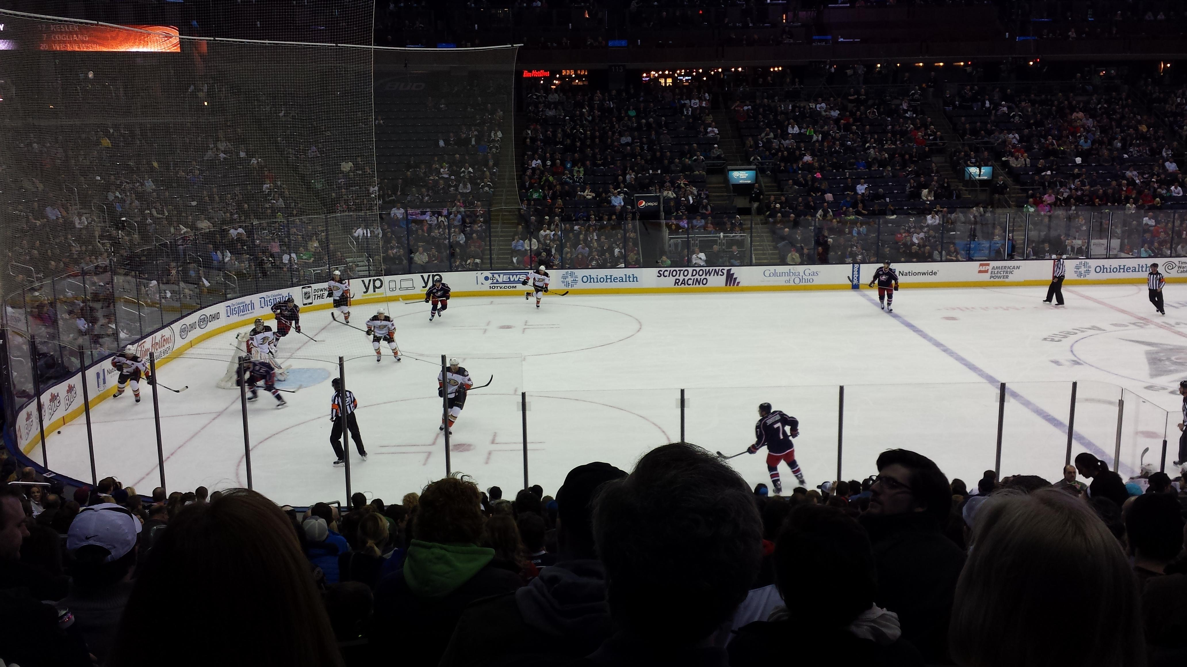 Nationwide Arena Section 105 Row V Seat 14