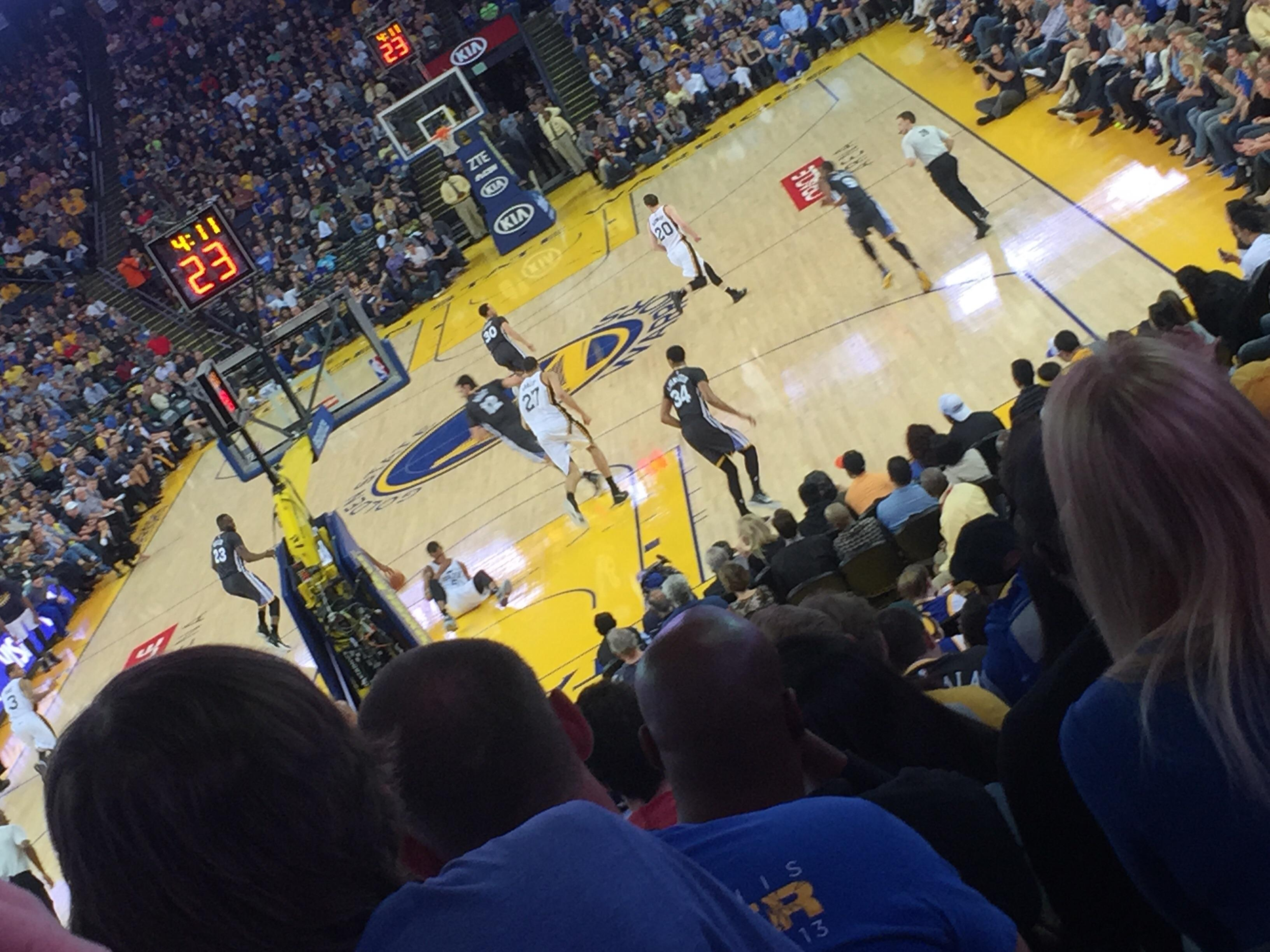 Oracle Arena Section 121 Row 16 Seat 15