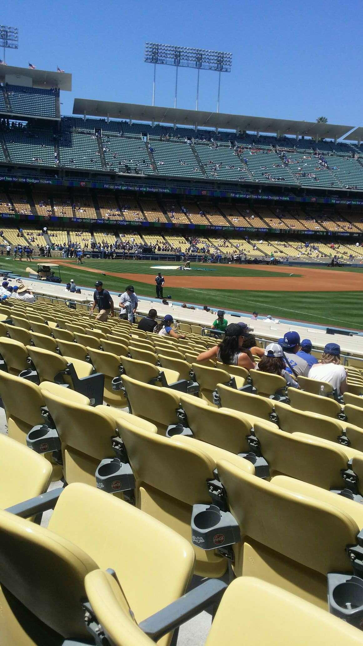 Dodger stadium section 42fd row p seat 6 los angeles dodgers vs