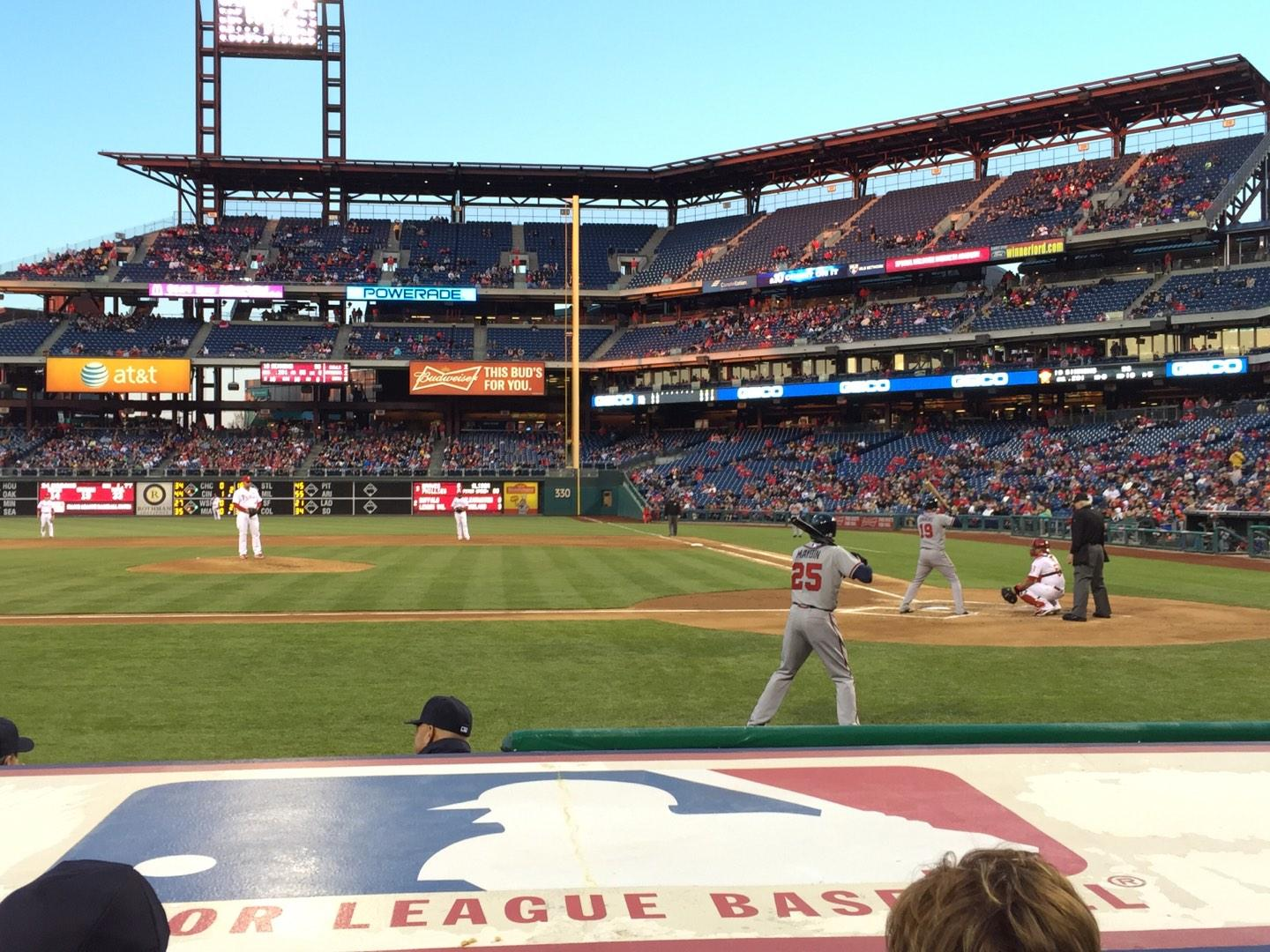 Citizens Bank Park Section 129 Row 3 Seat 3