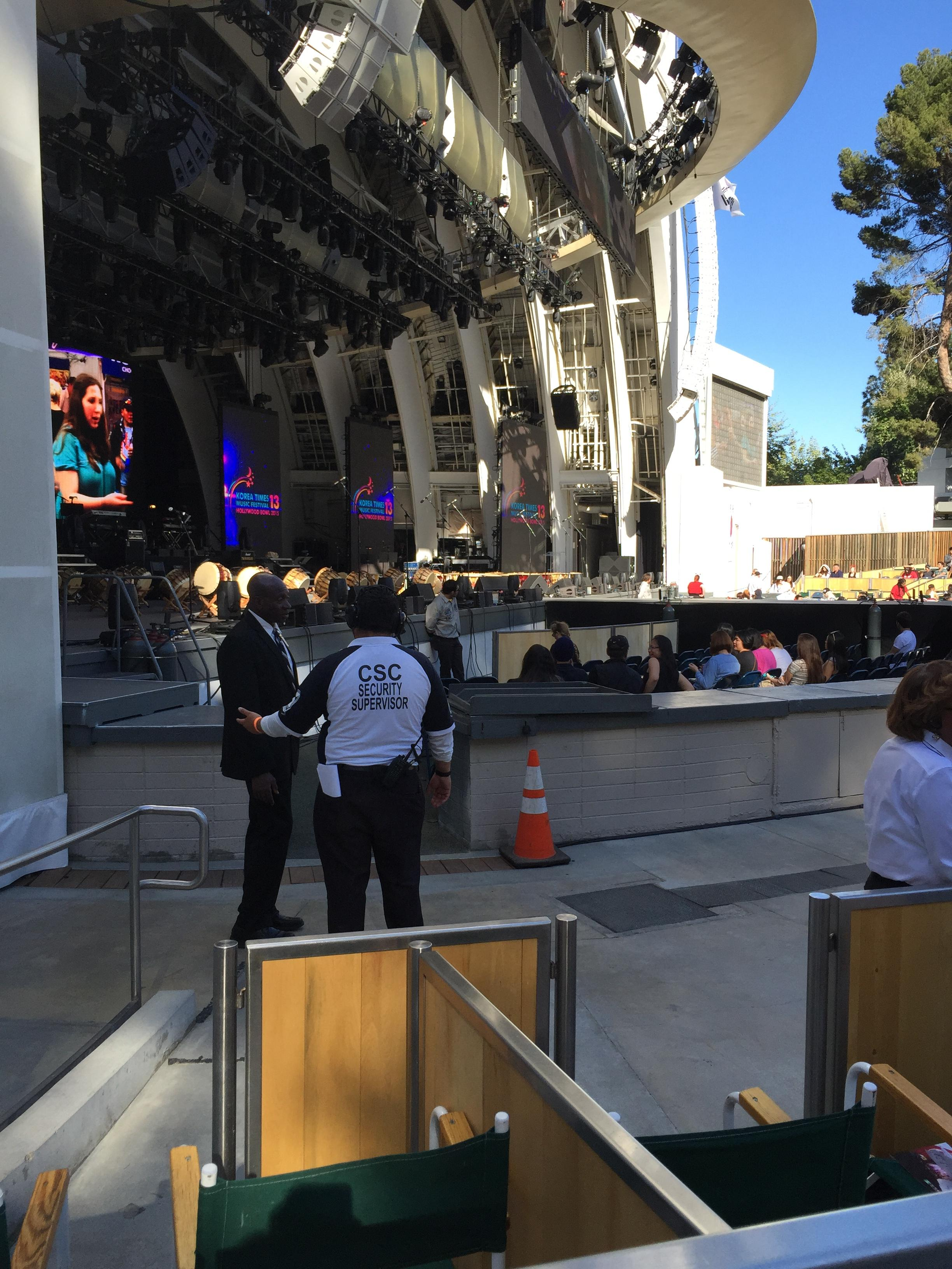 Hollywood Bowl Section Ramp E Row 1 Seat 7