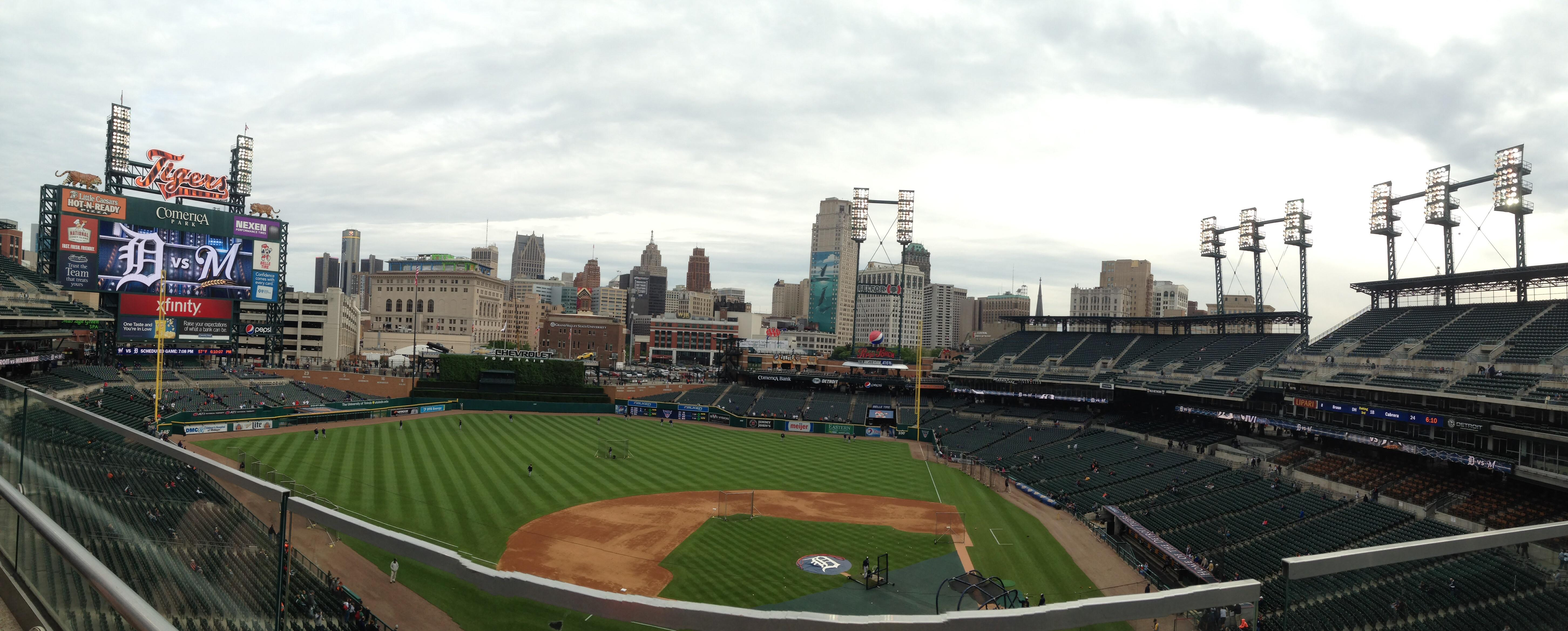 Comerica Park Section 332 Row A Seat 11