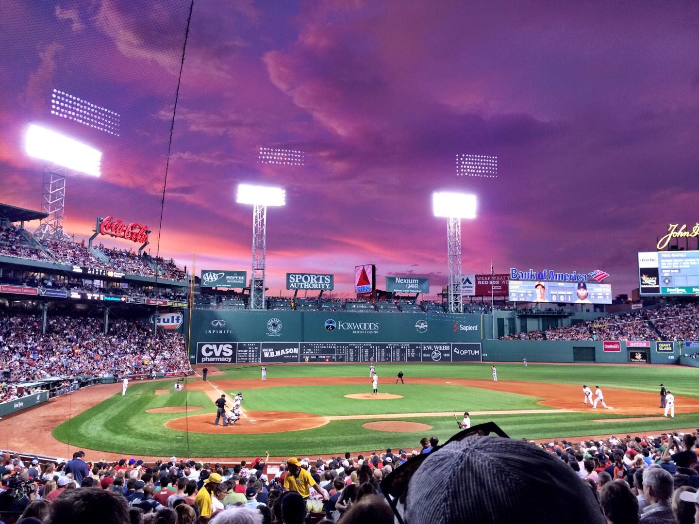 Fenway Park Section Loge Box 125 Row LL Seat 2