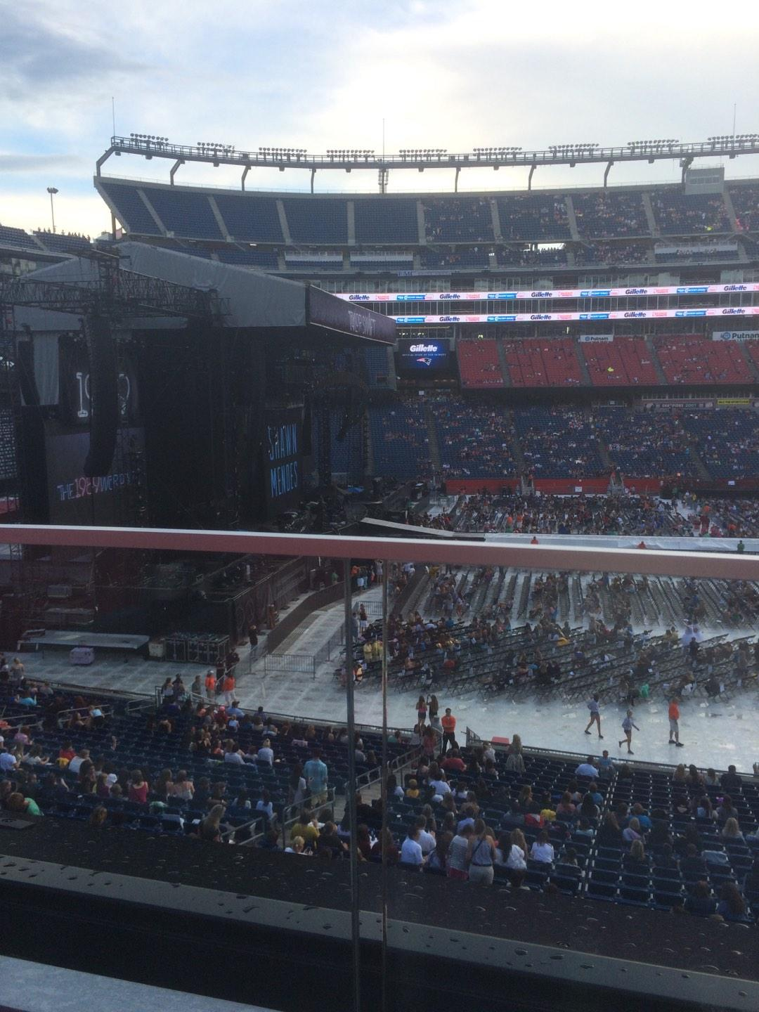 Gillette Stadium Section CL12 Row 1 Seat 8