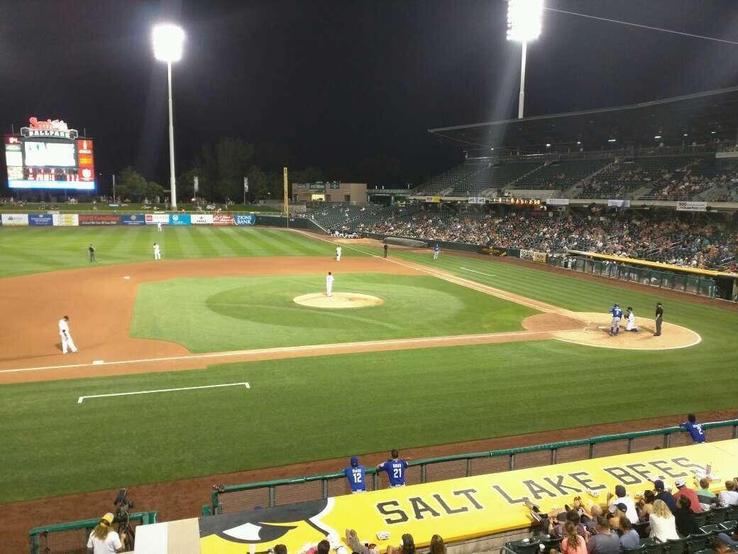 Smith's Ballpark Section 113 Row 1 Seat 1