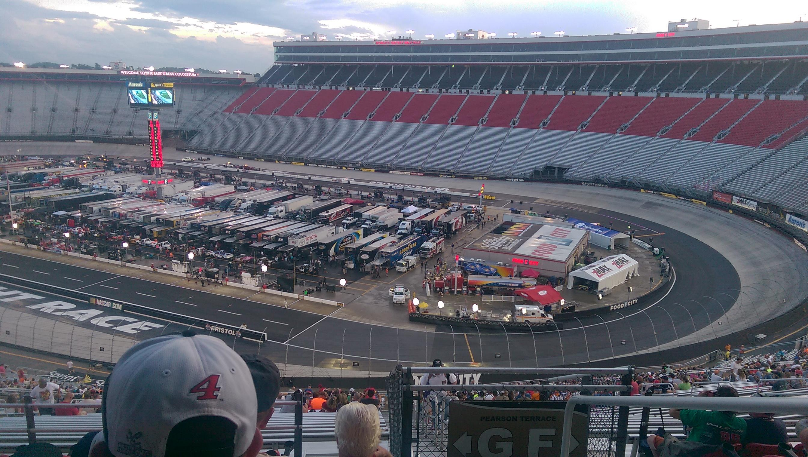 Bristol Motor Speedway Section Pearson Terrace Gf Row 7