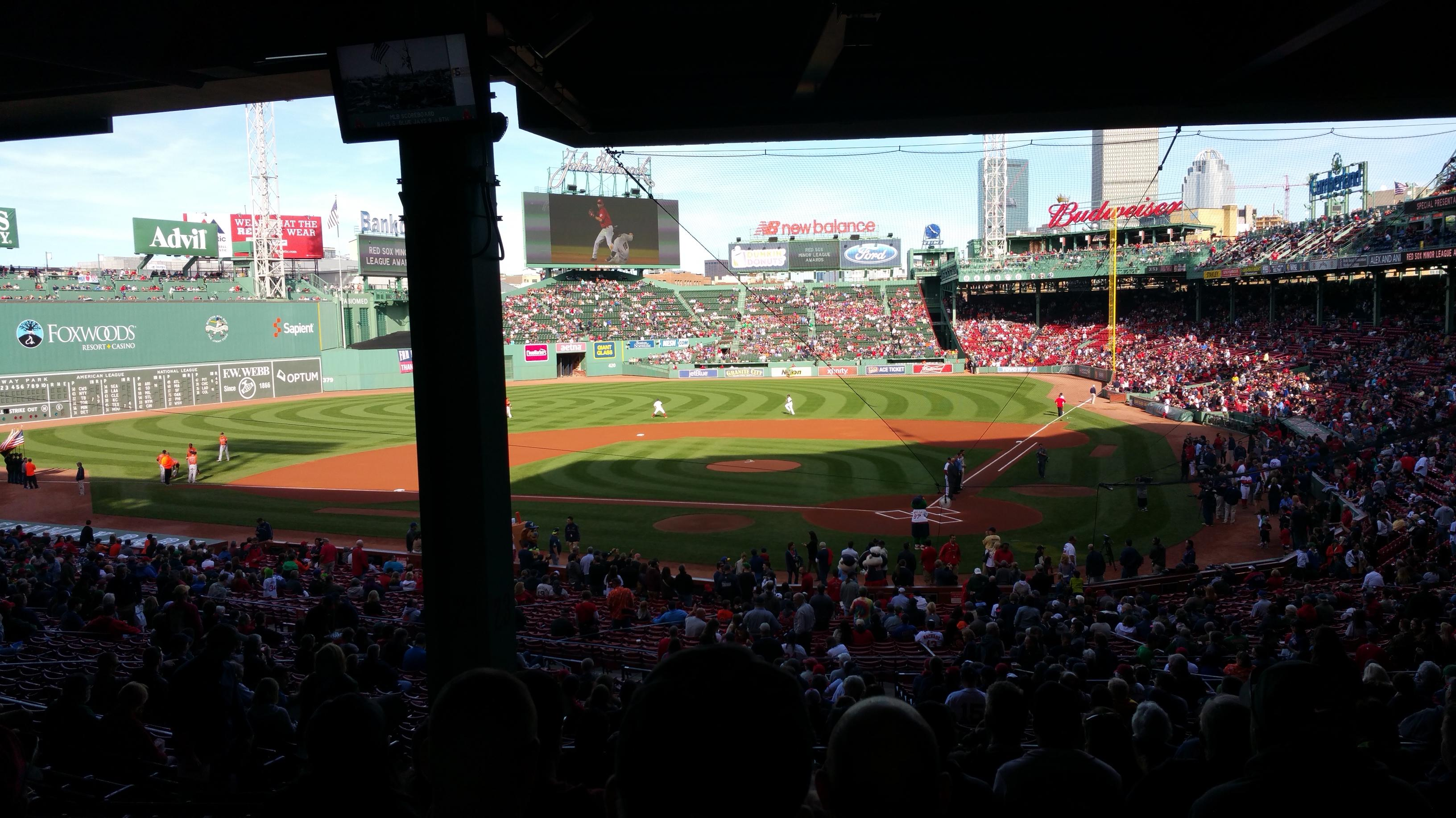 Fenway Park Section Grandstand 23 Row 13 Seat 11
