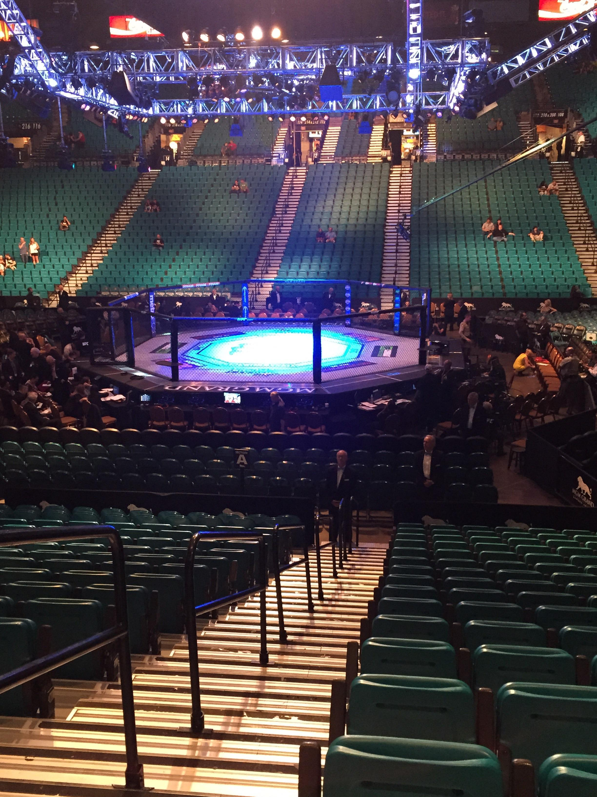MGM Grand Garden Arena section row S seat d Anonymously