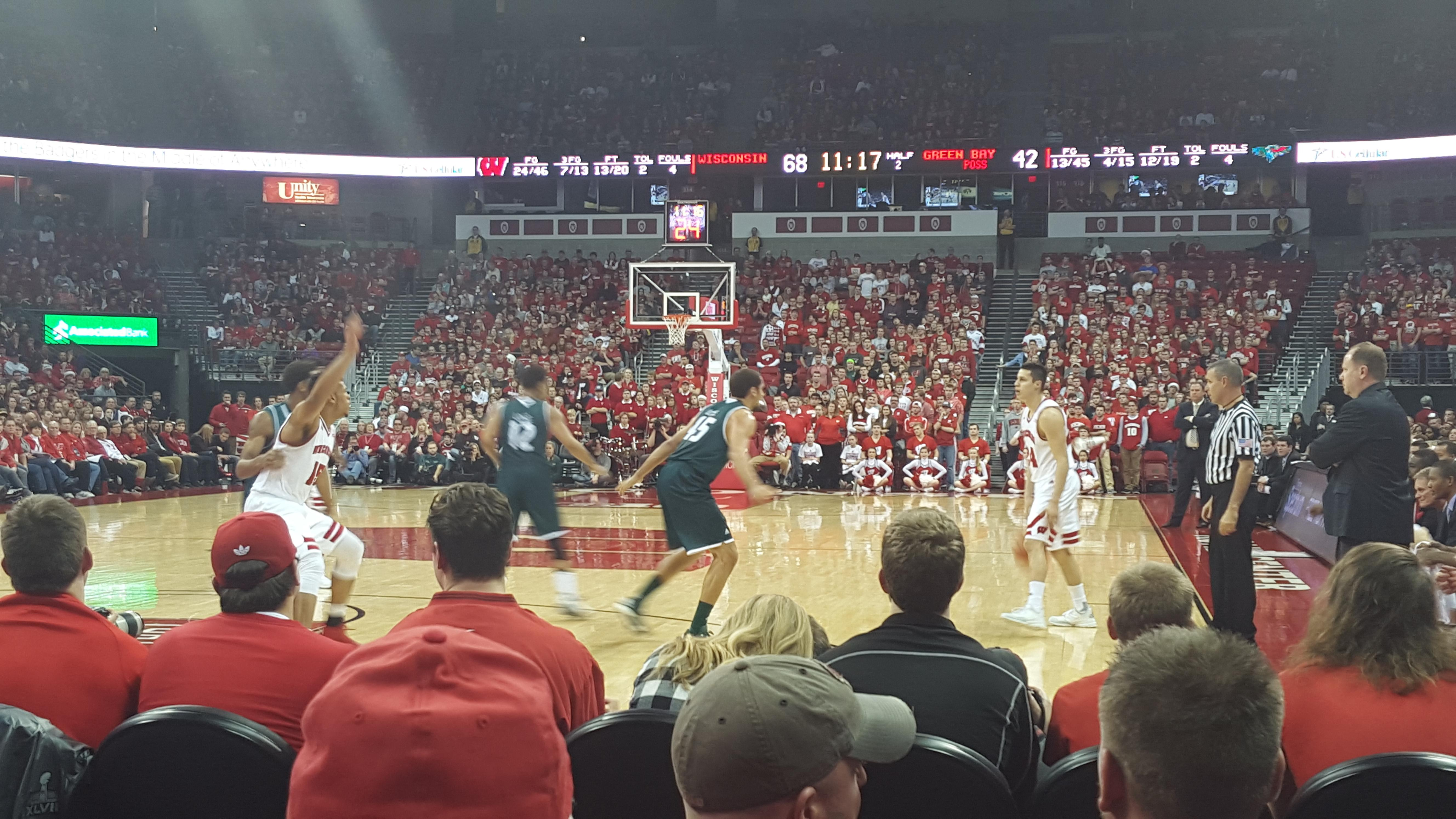 Kohl Center Section 128 Row DD Seat 8