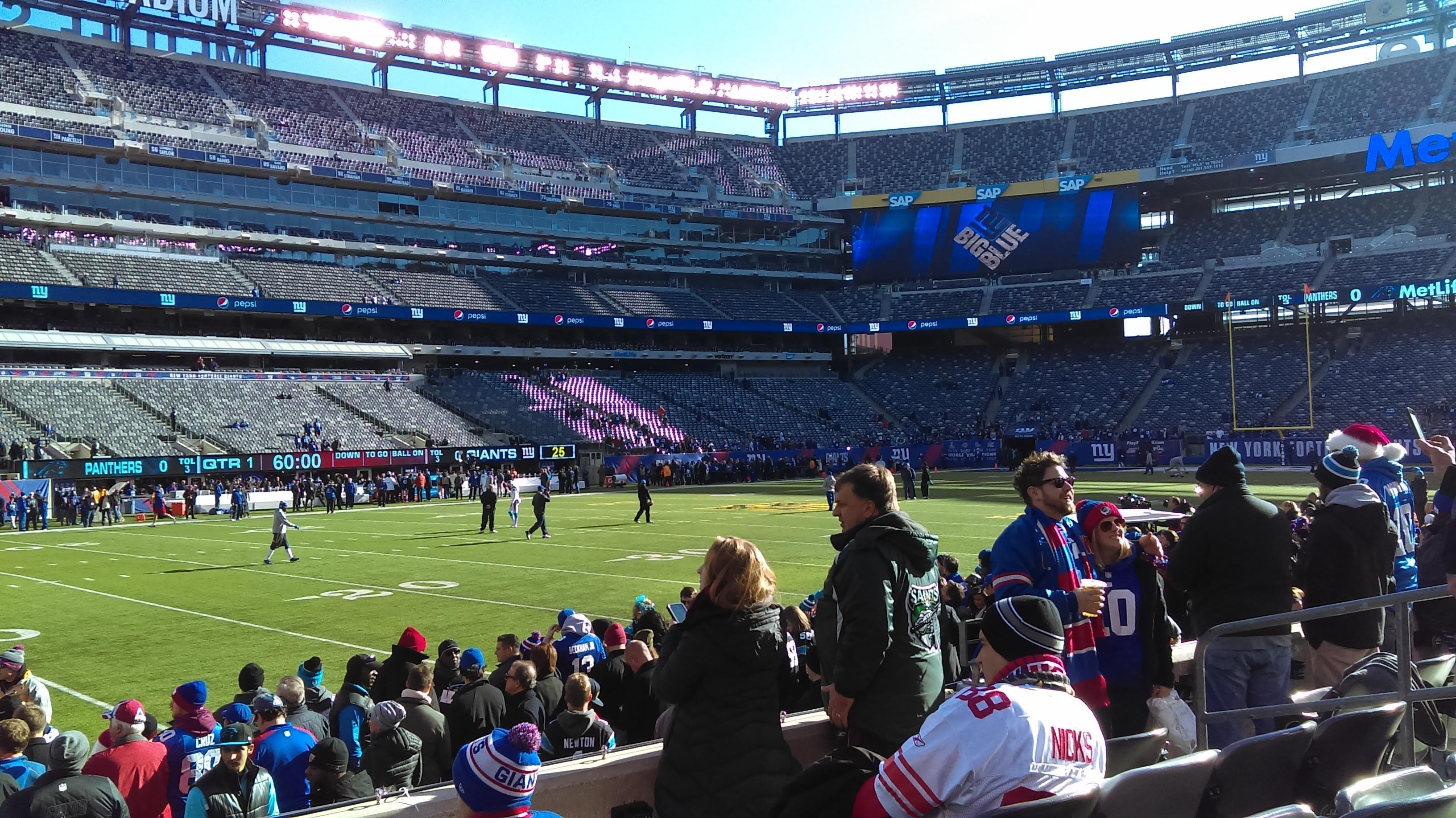 MetLife Stadium Section 143 Row 5 Seat 8