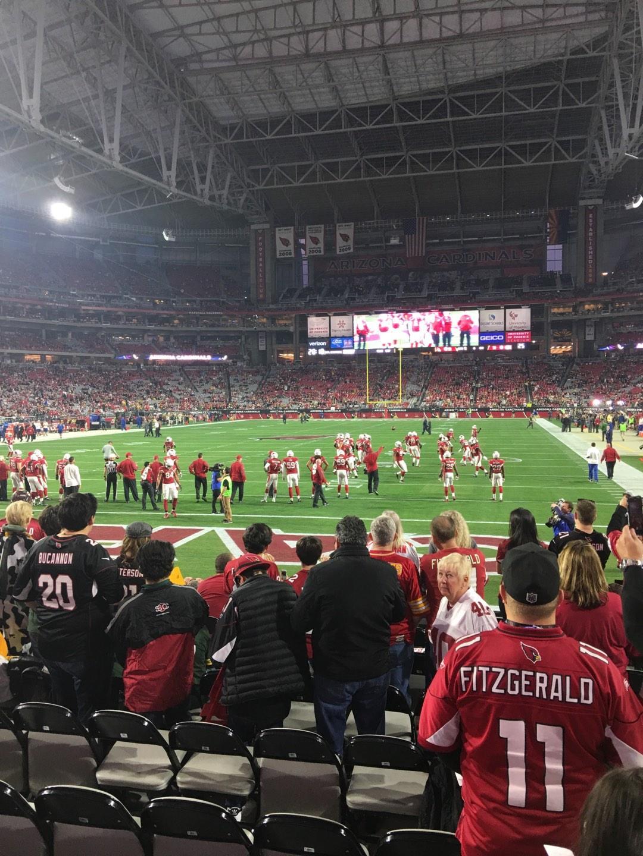 University Of Phoenix Stadium Section 139 Row 9 Seat 3