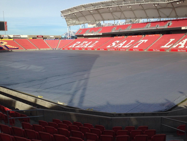 Rio Tinto Stadium Section 14 Row p Seat 10