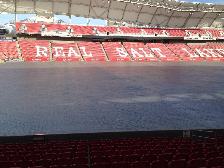 Rio Tinto Stadium Section 22 Row p Seat 14