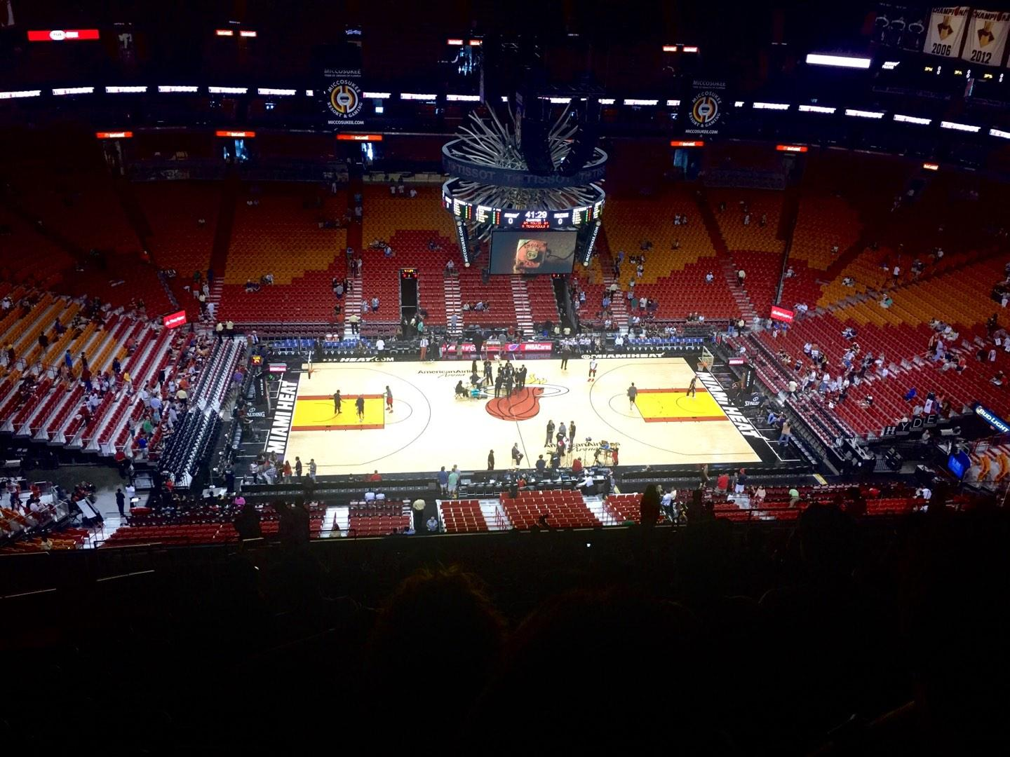 American Airlines Arena Section 325 Row 19