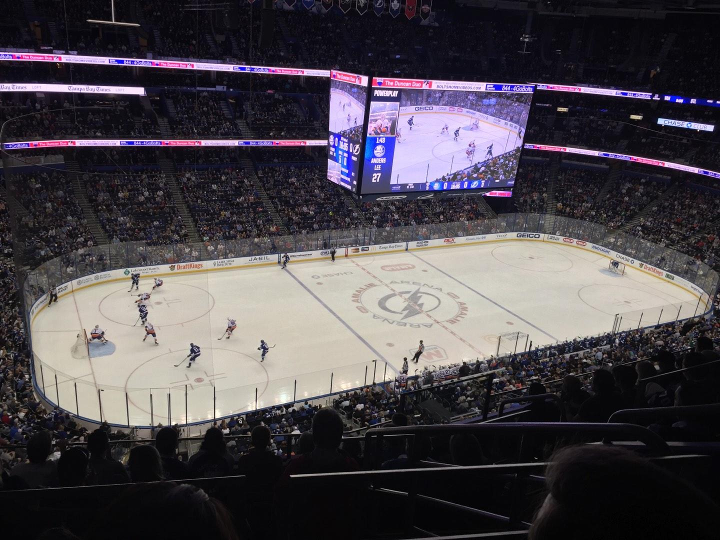 Amalie Arena Section 304 Row G Seat 3
