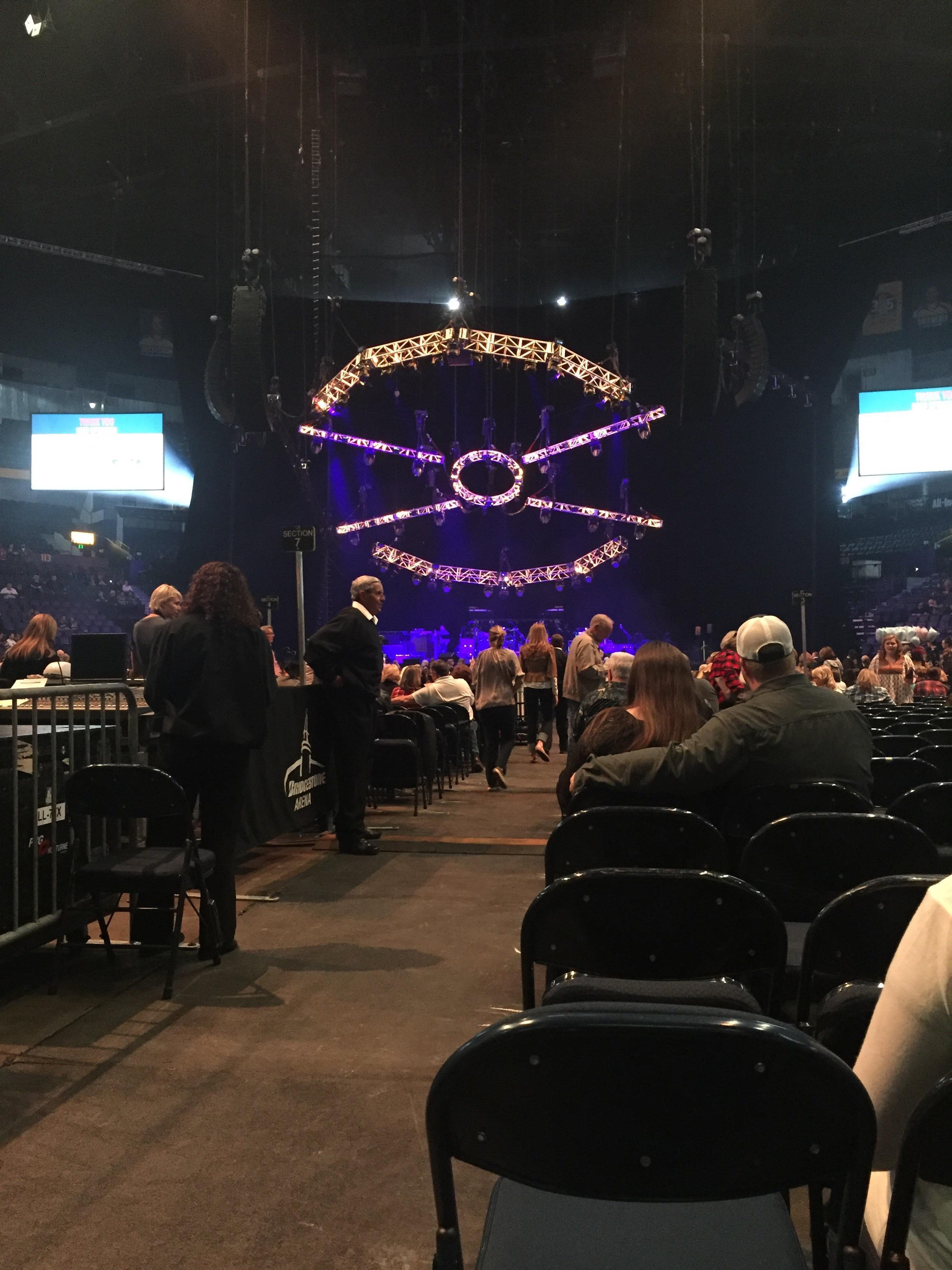 Bridgestone Arena Section Floor 6 Row 19 Seat 12