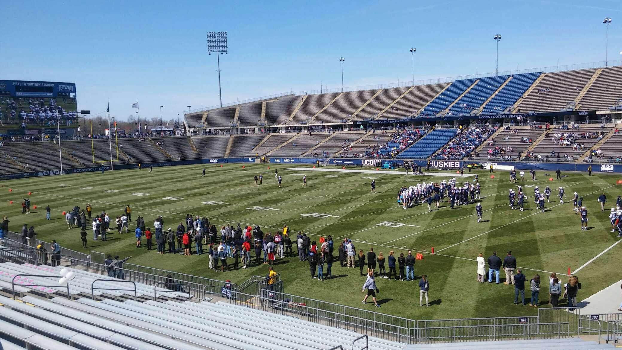 Rentschler Field Section 106 Row handicapped Seat 13