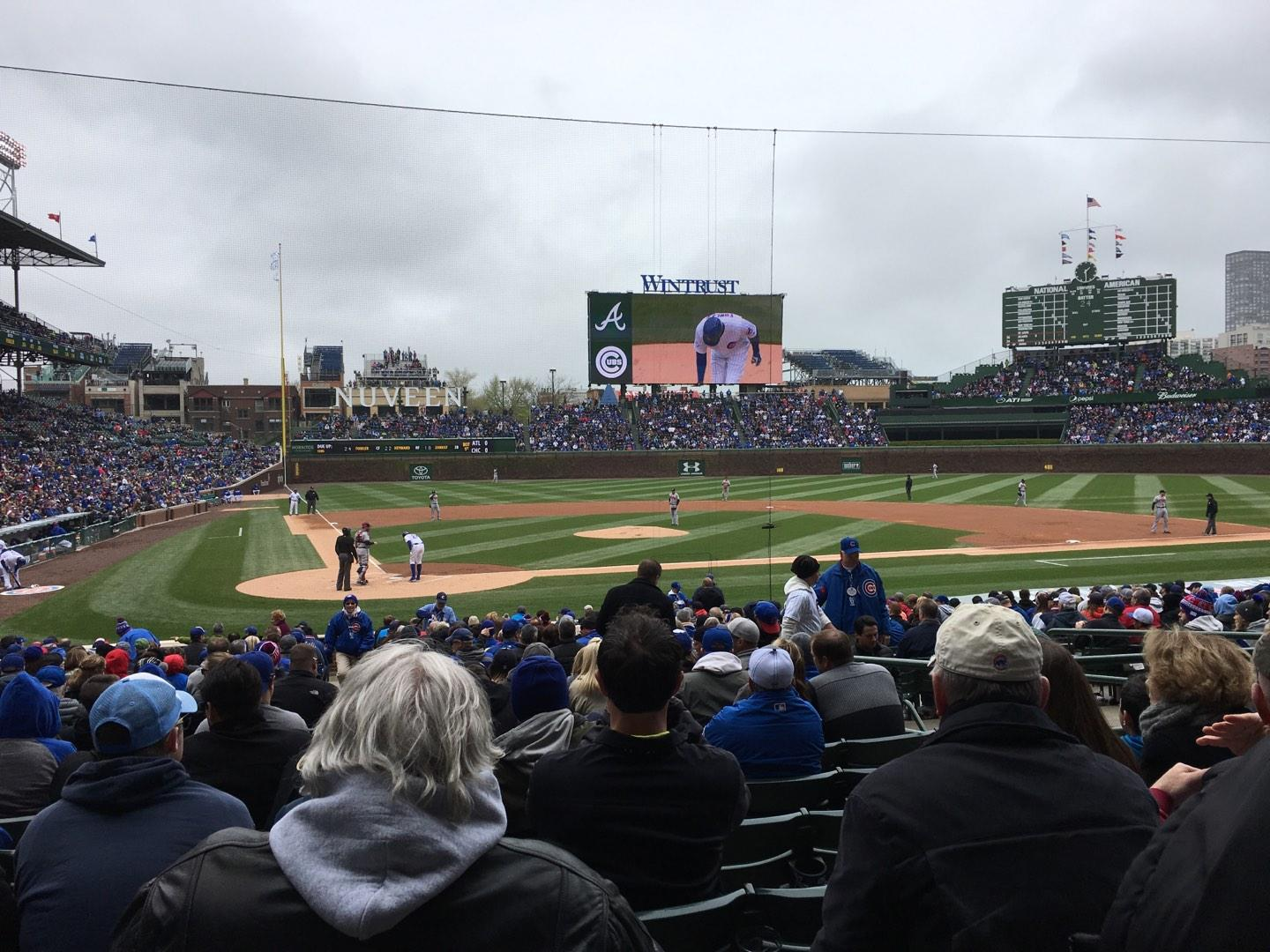 Wrigley Field section 124 row 10 seat 5 - Chicago Cubs vs Atlanta Braves Shared Anonymously