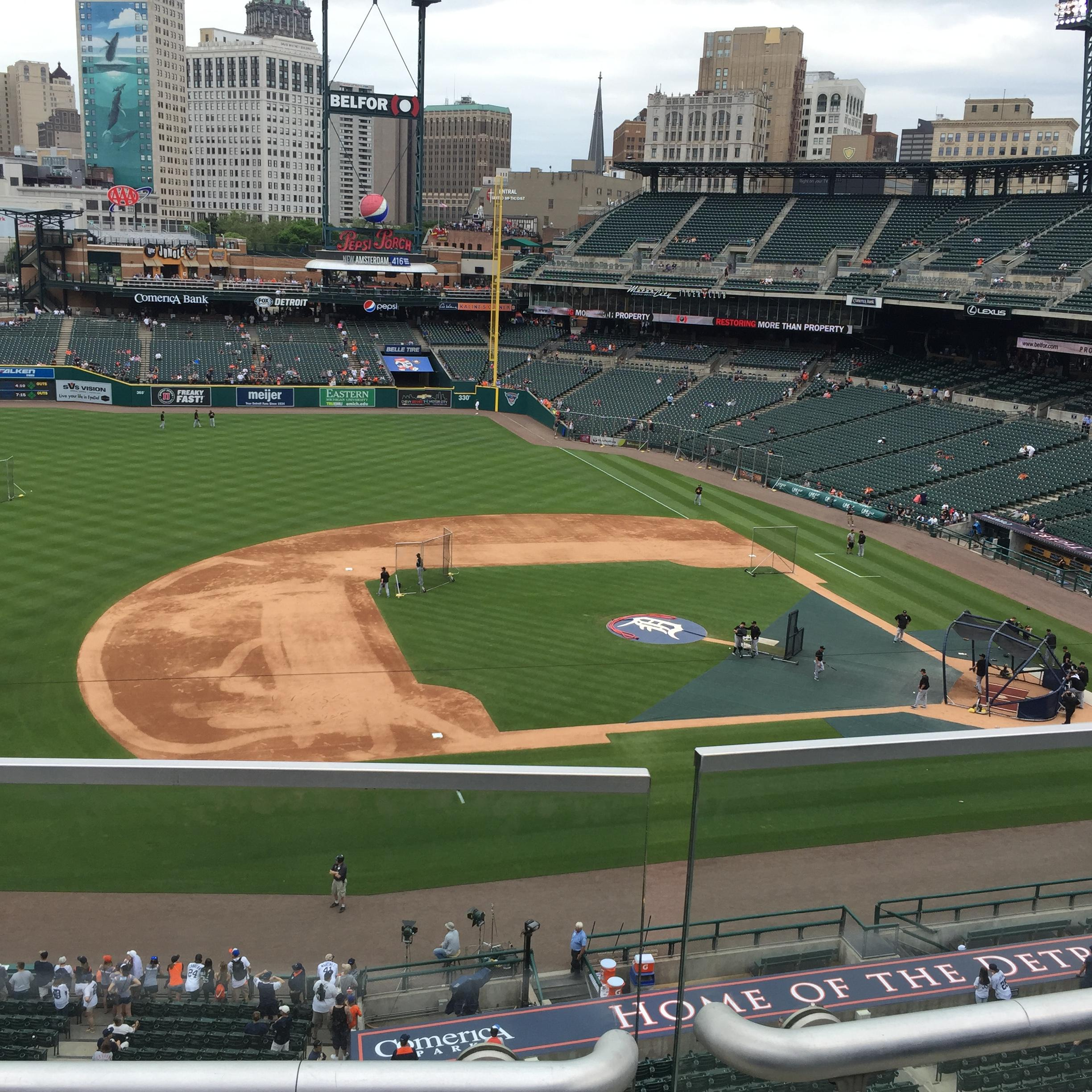 Comerica Park Section 334 Row B Seat 18