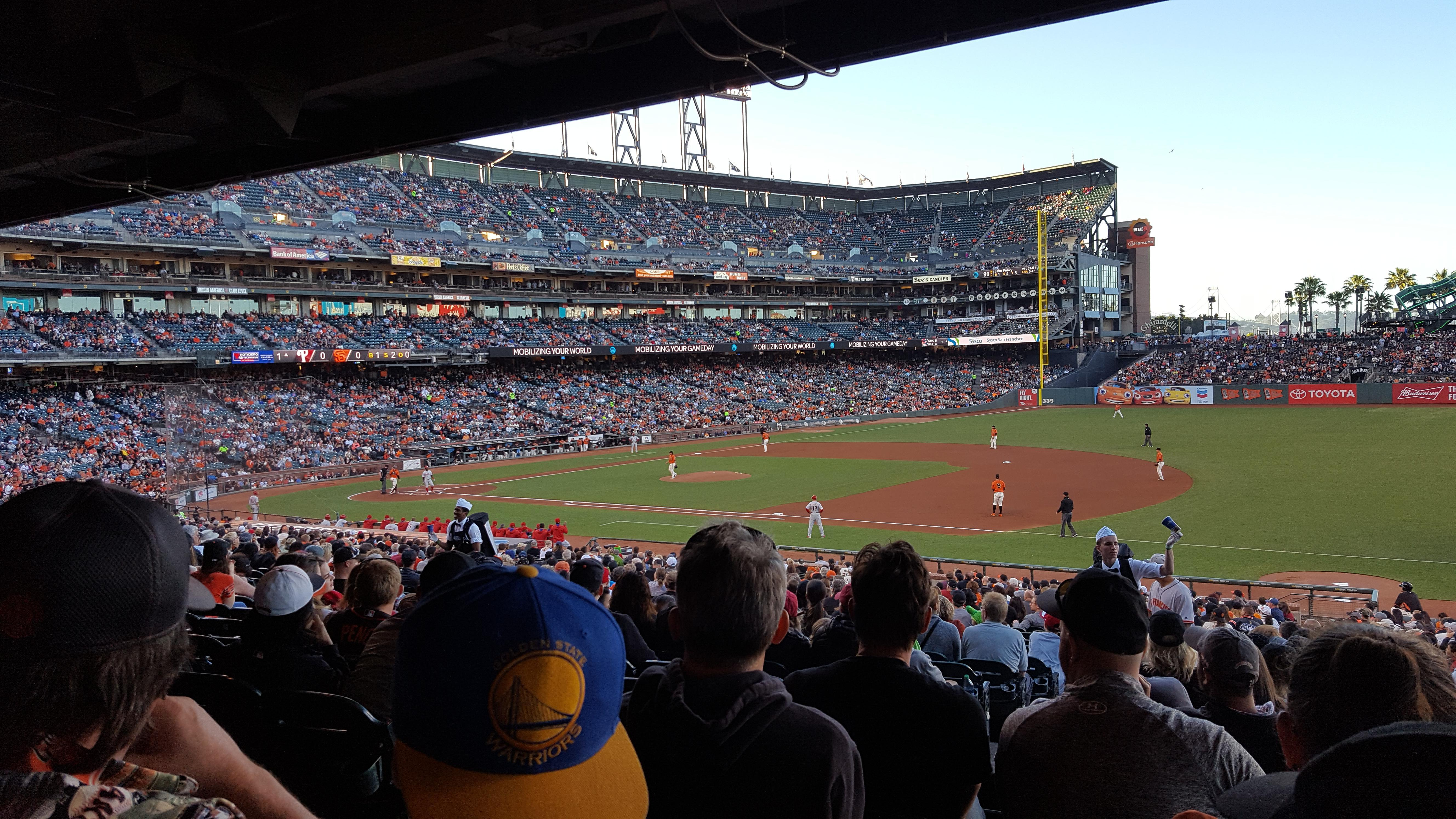AT&T Park Section 104 Row 36 Seat 14