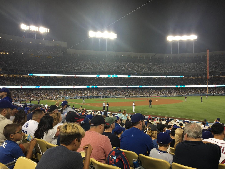 Dodger Stadium Section 42FD Row M Seat 1