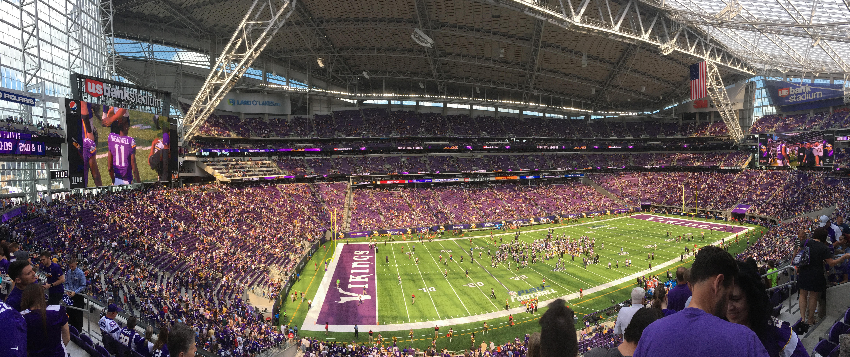 U S Bank Stadium Section 238 Row 7 Seat 6 Minnesota
