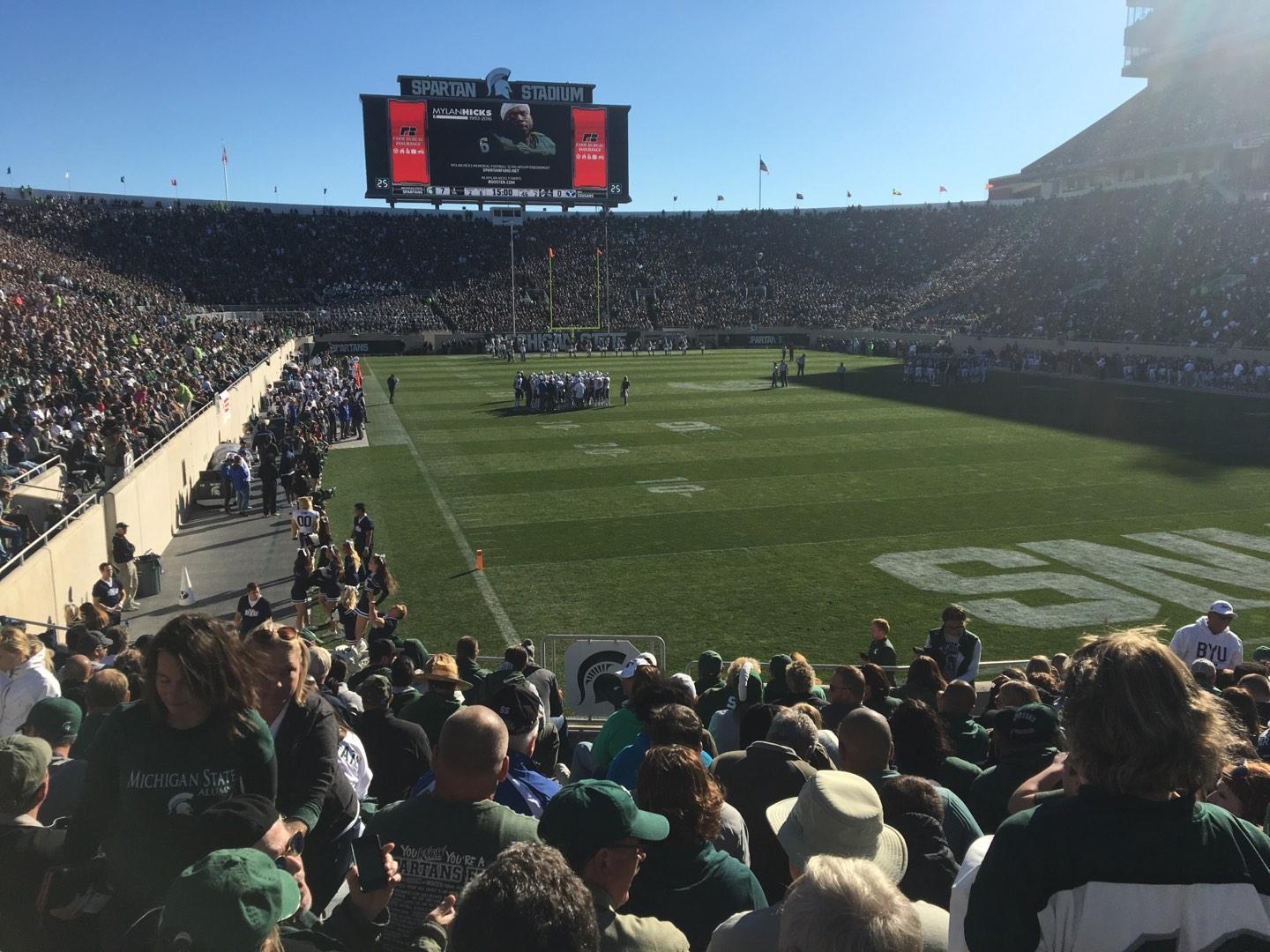Spartan Stadium Section 3 Row 17 Seat 33