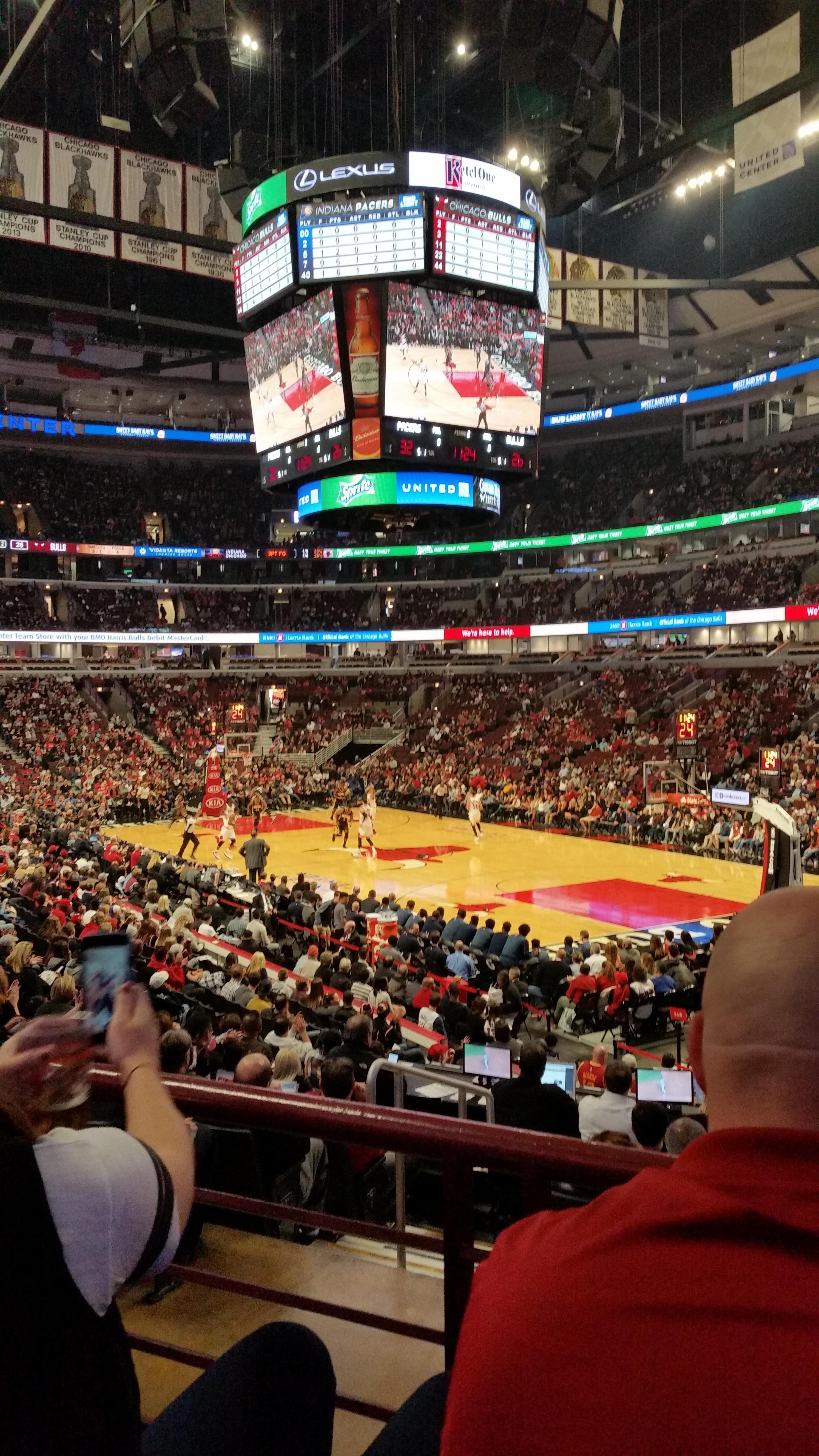 United Center Section 119 Row 17 Seat 20