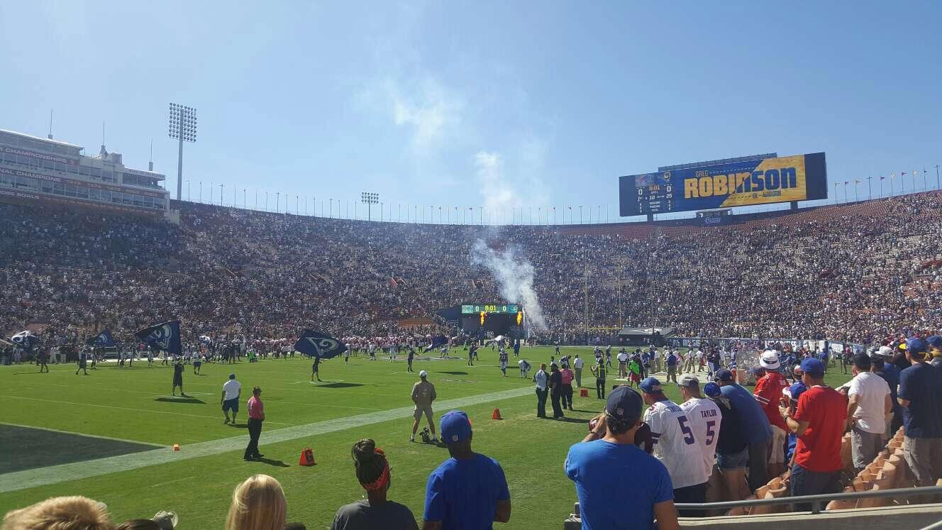 Los Angeles Memorial Coliseum Section 25L Row 4 Seat 6