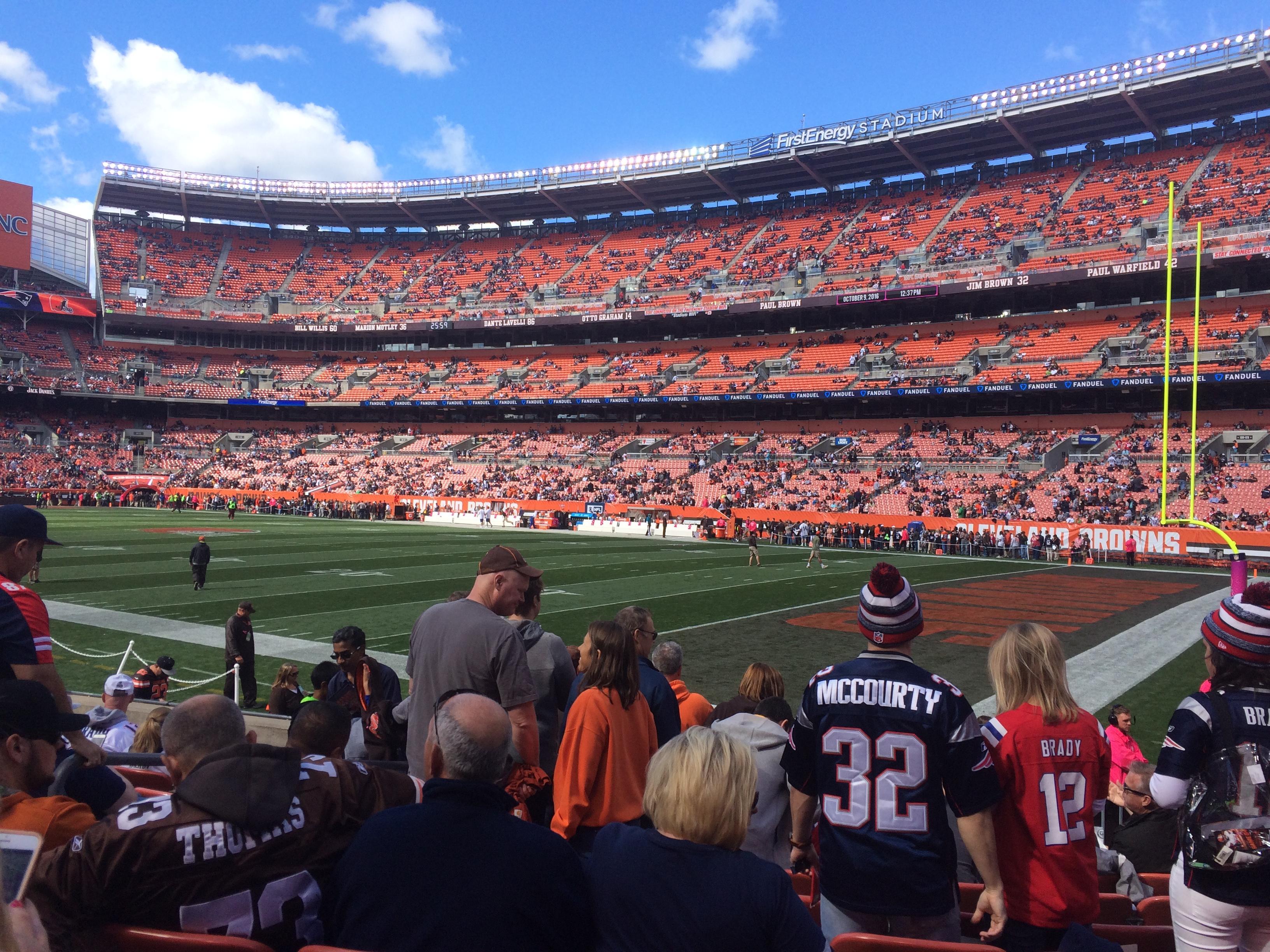 FirstEnergy Stadium Section 115 Row 8 Seat 5