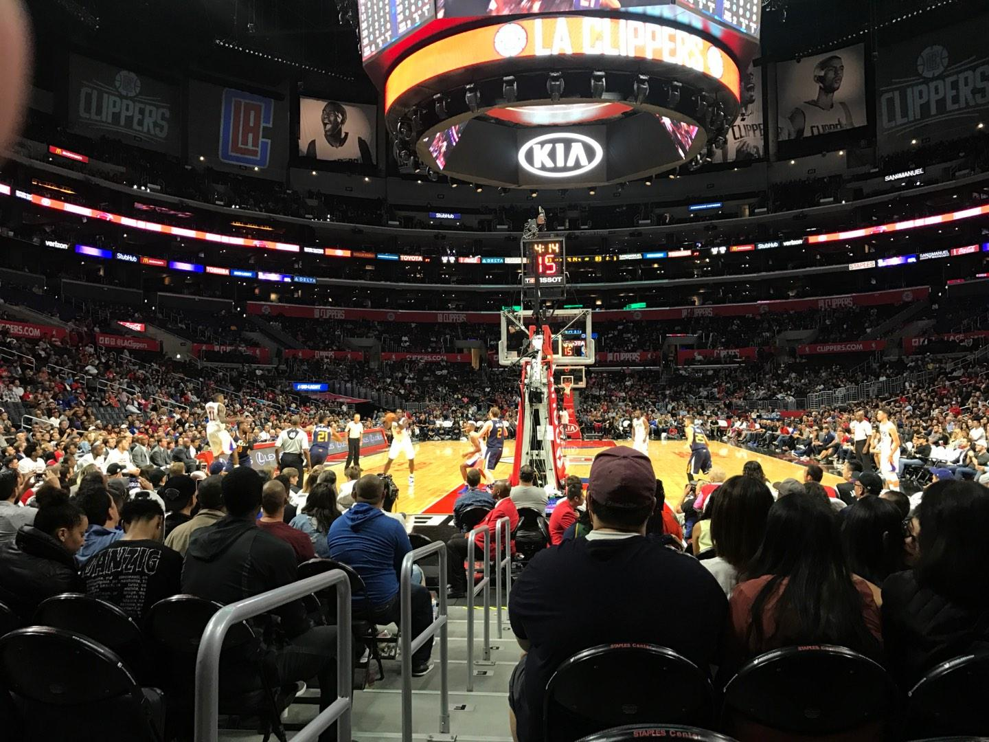 Staples Center Section 115 Row L Seat 11
